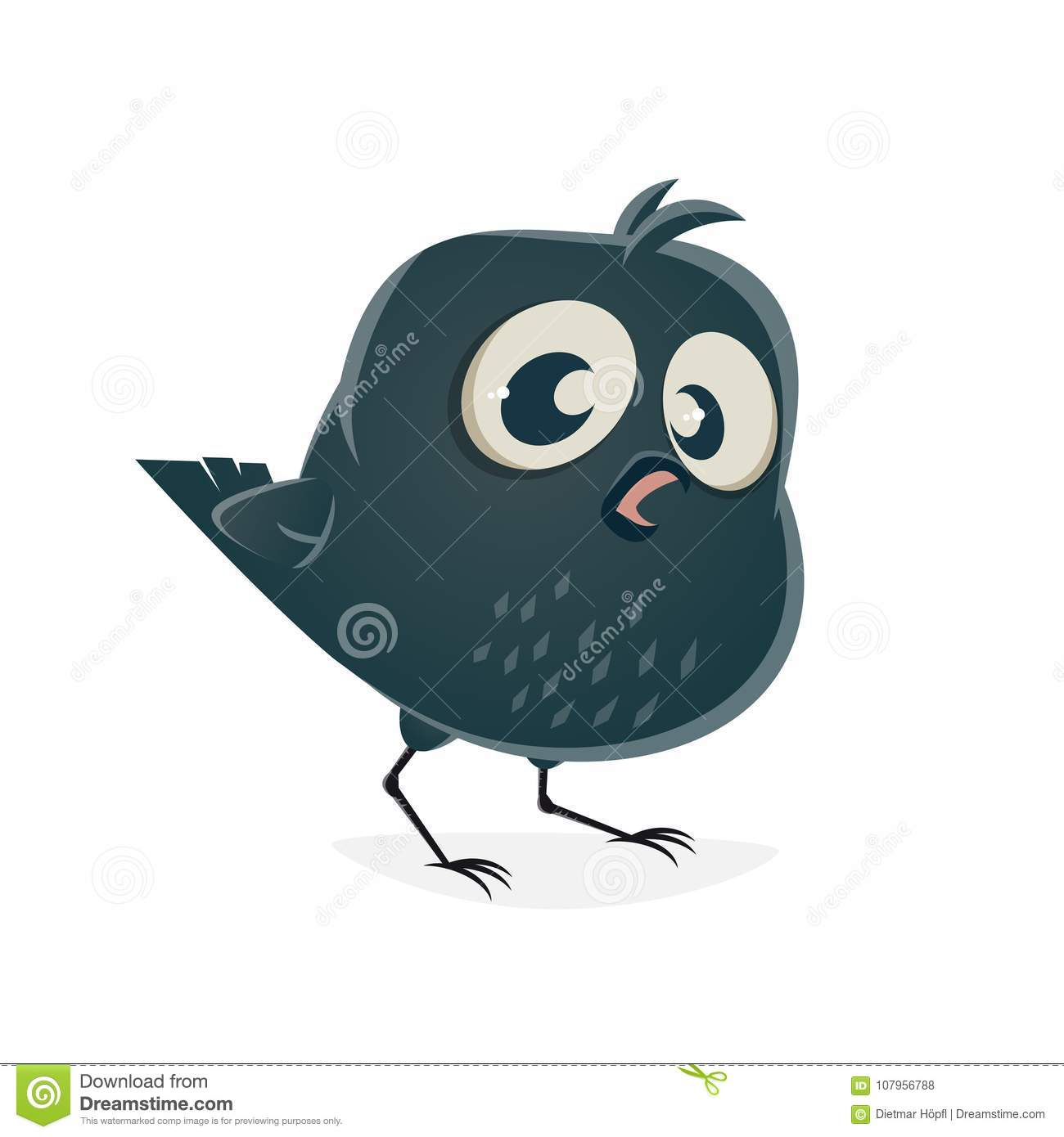 Funny Crow Clipart Stock Vector Illustration Of Clip 107956788