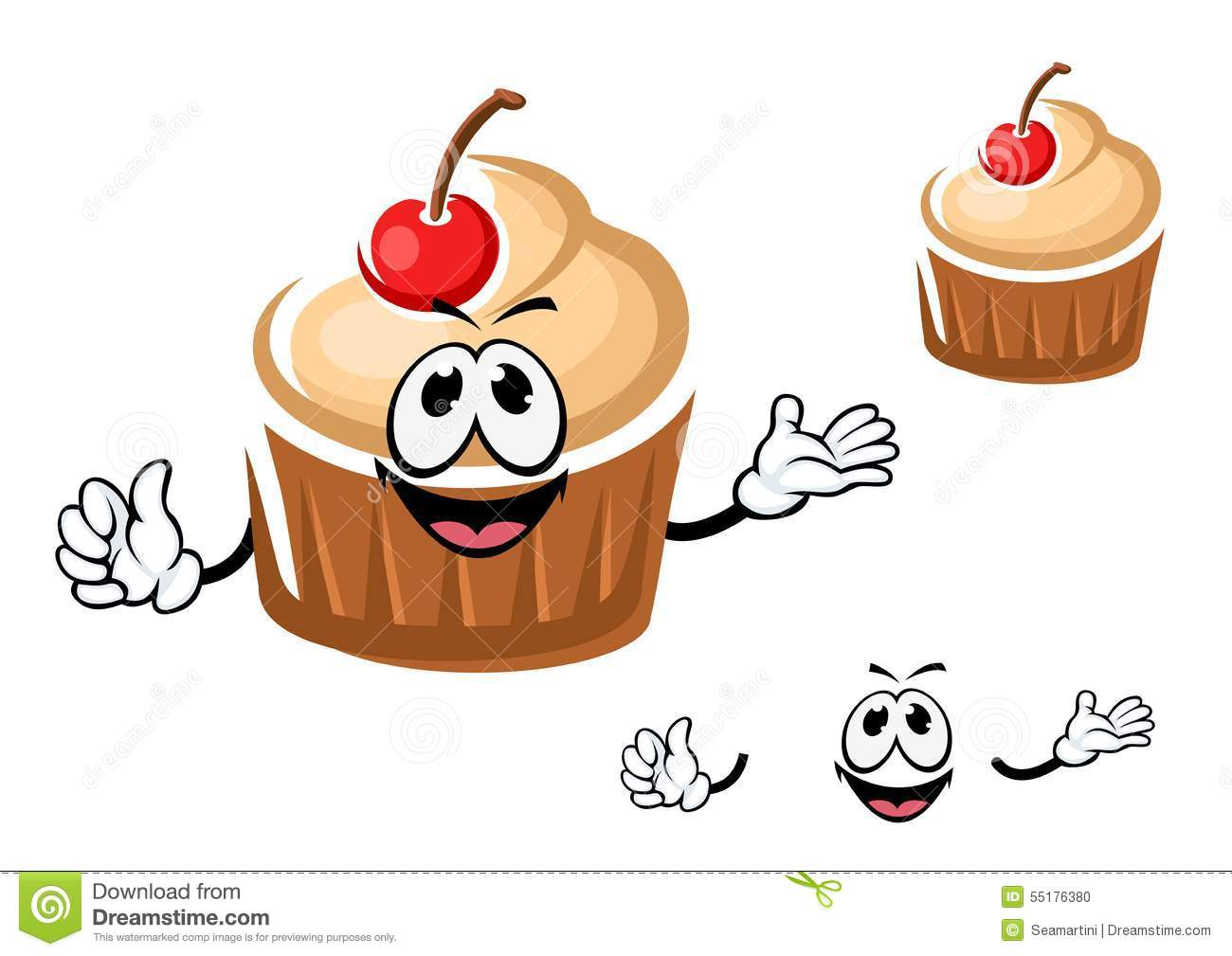the character evaluation of cupcake brown Illustration of funny tasty cartoon cupcake character with green cream, chocolate chips and waffle rolls for pastry shop or holiday party design vector art, clipart add to likebox funny cartoon brown cupcake character with cute happy face and little hands, for bakery and pastry food design #39928211 add to likebox.