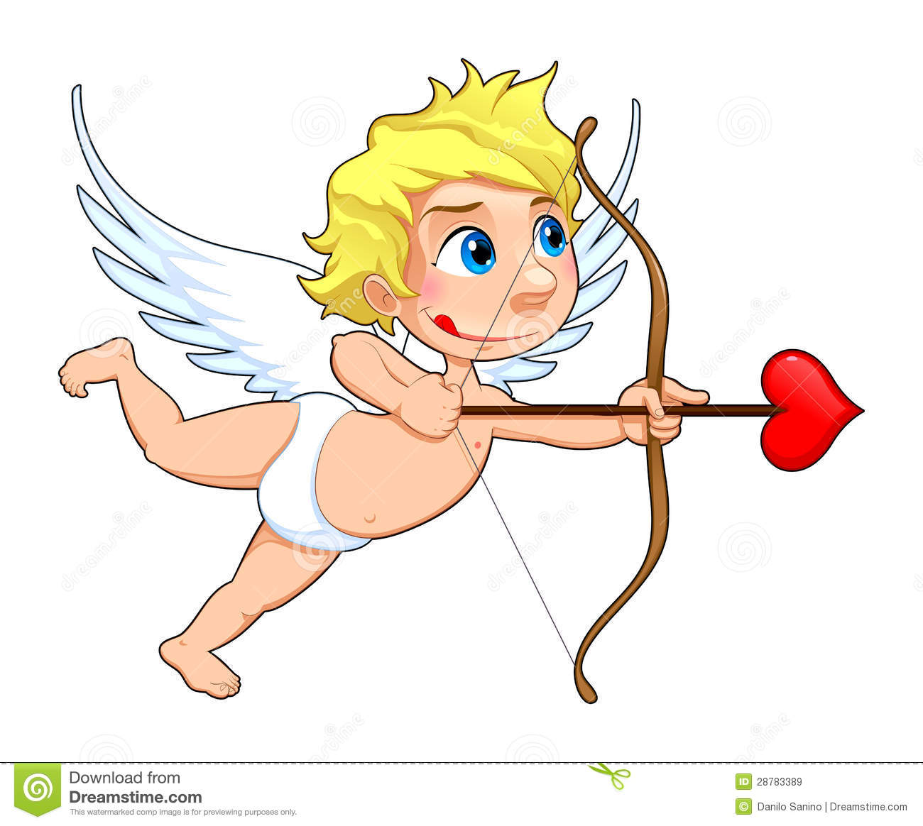 Funny Cupid. Royalty Free Stock Images - Image: 28783389