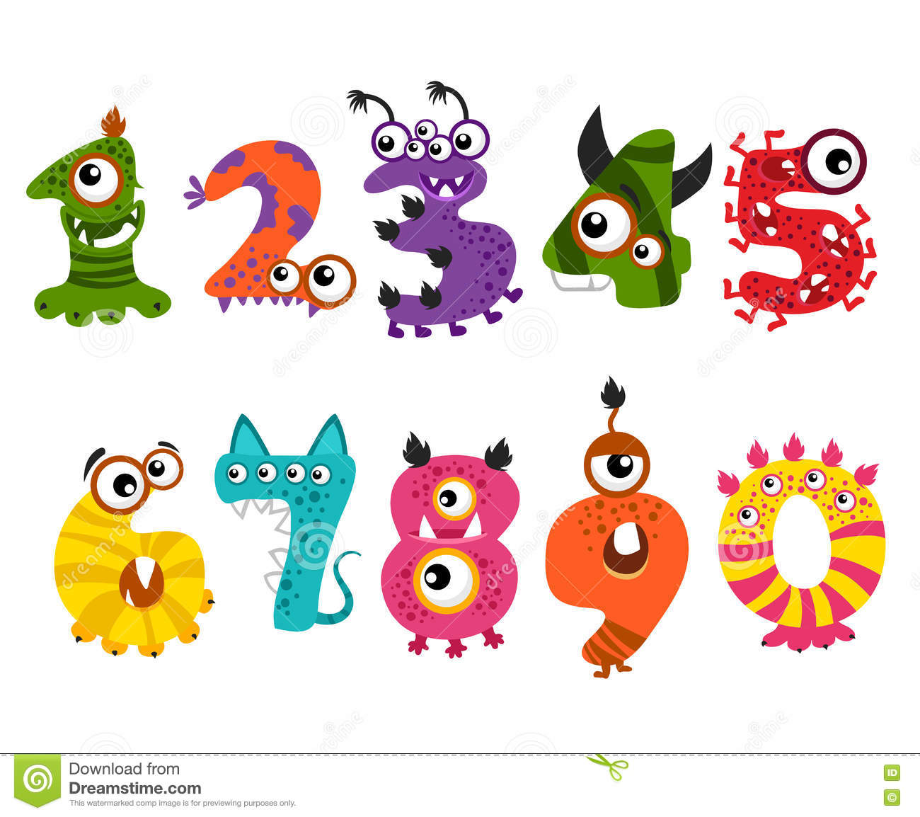 Funny cute monster num...