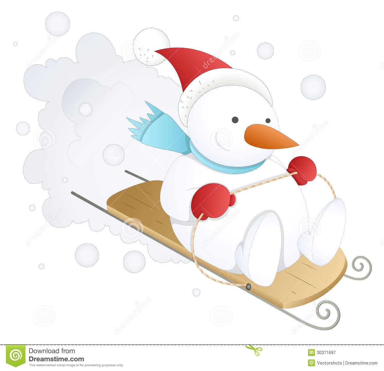 Illustration Skiing Snowman Stock Photos, Royalty-Free Images ...