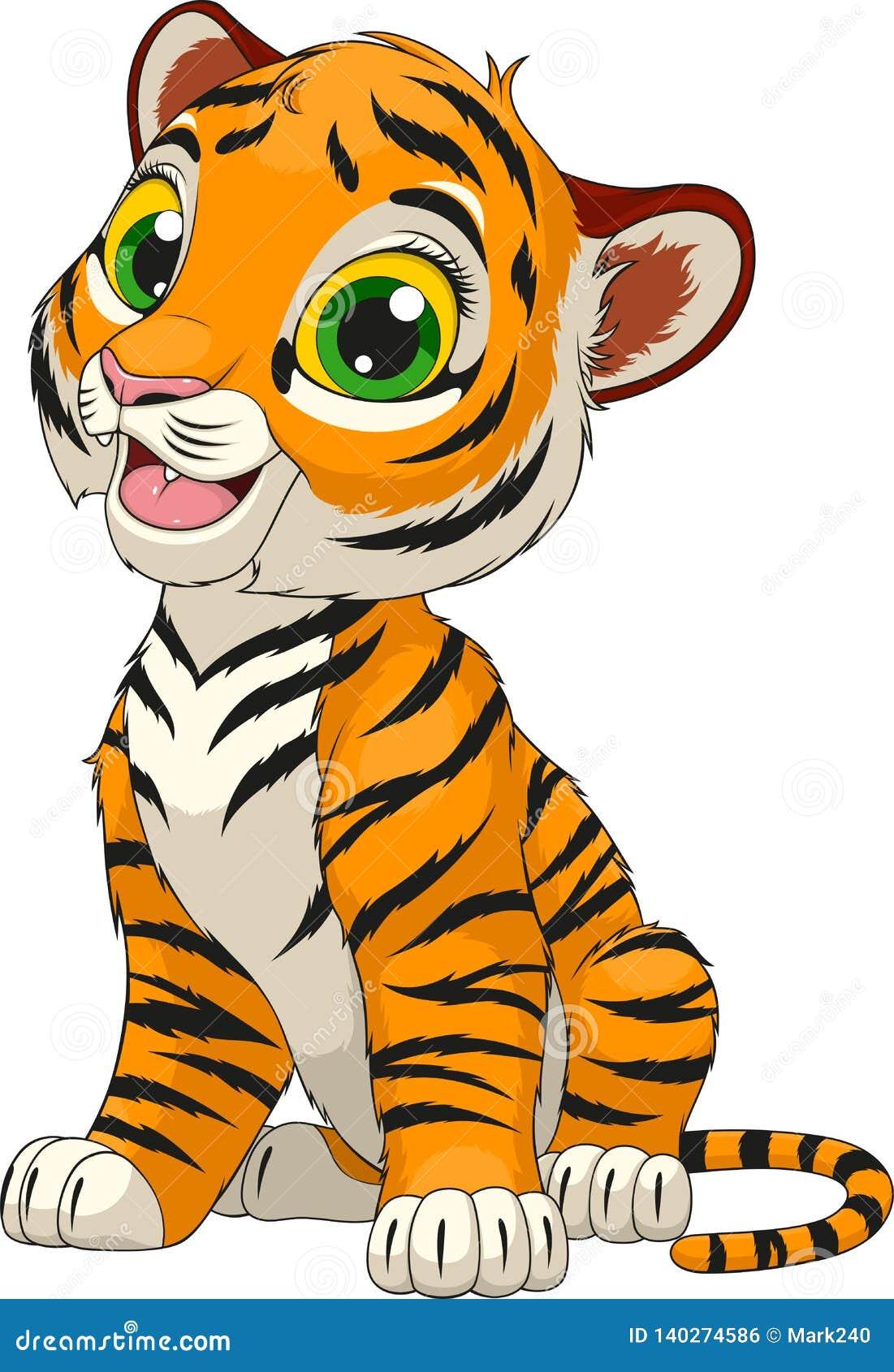 Funny cute tiger cub