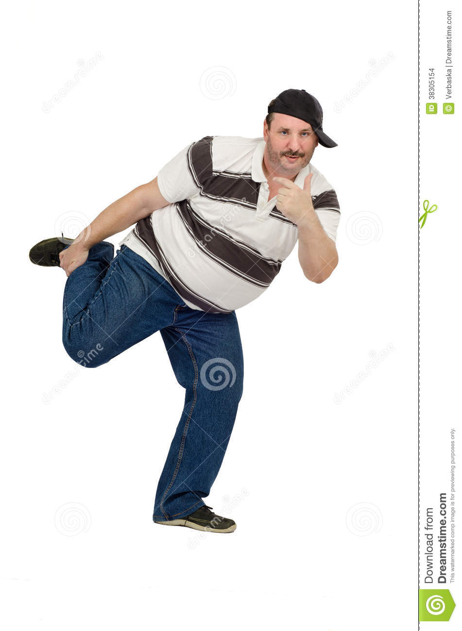 Funny Dance Of Mature Rapper Stock Photo - Image Of Male -5350