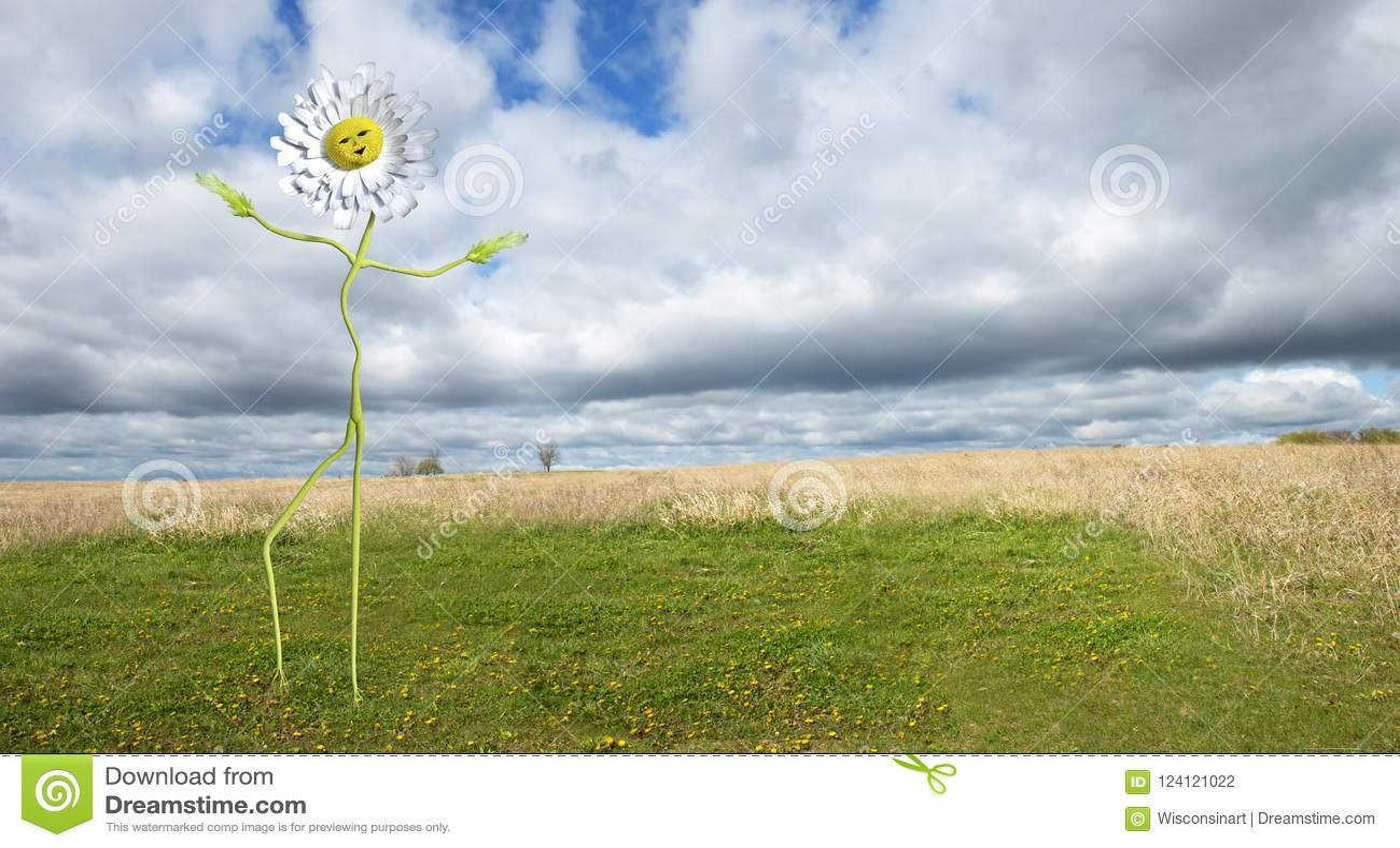 Funny dancing daisy flower background man stock photo image of download funny dancing daisy flower background man stock photo image of background wisconsinart izmirmasajfo