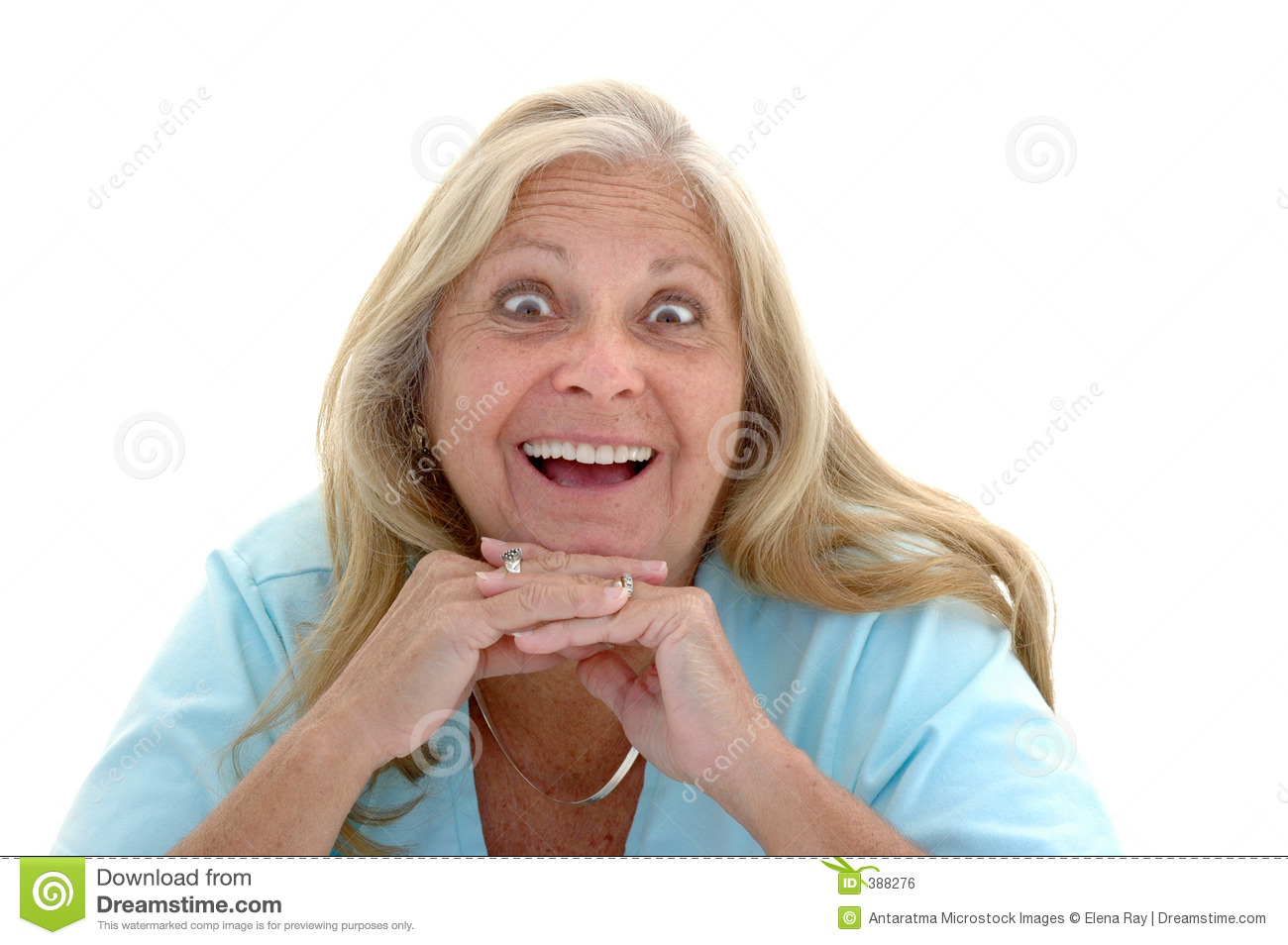 Funny Delighted Woman Royalty Free Stock Image Image 388276