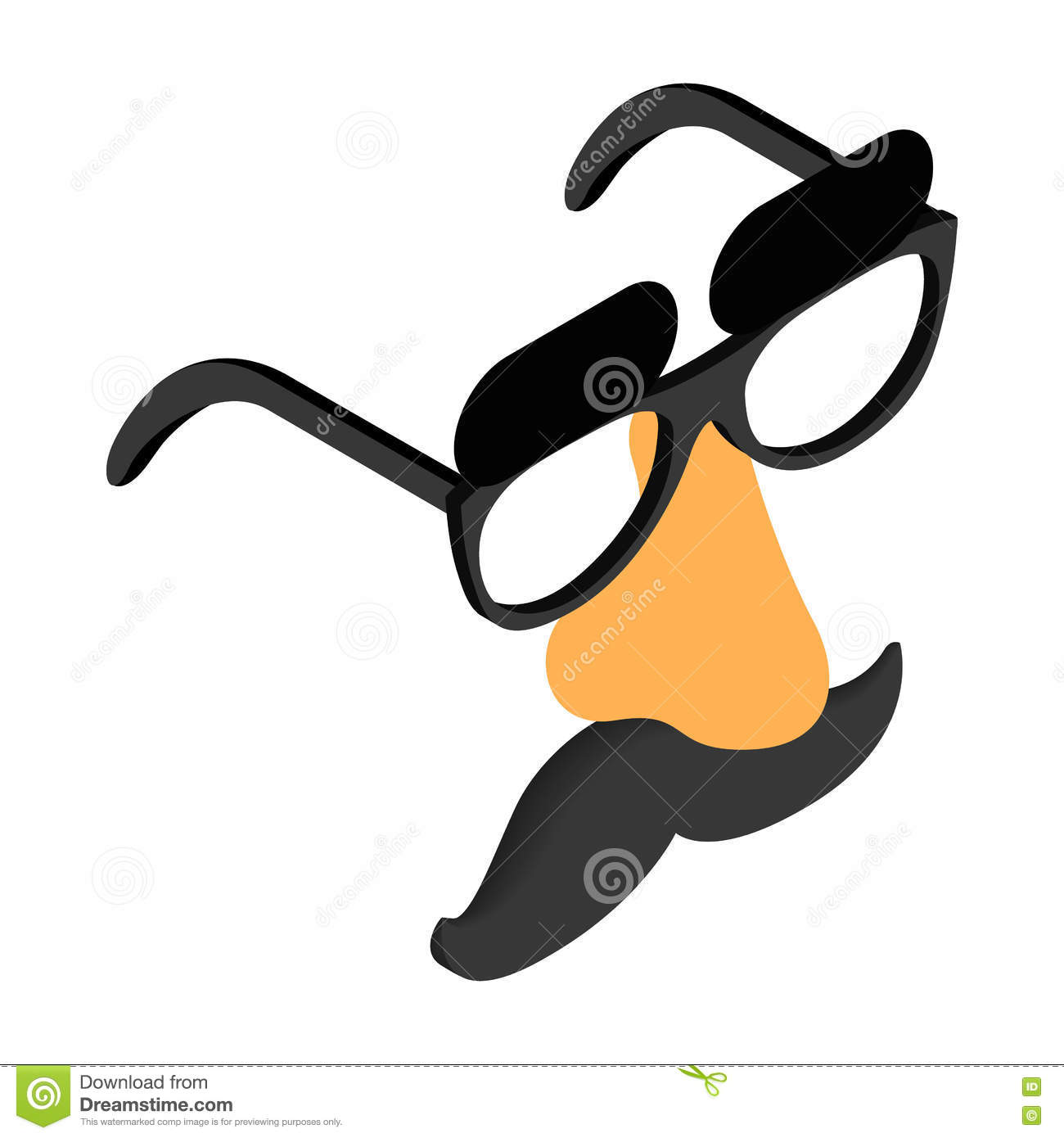 85825731bce Funny Disguise Mask With Glasses