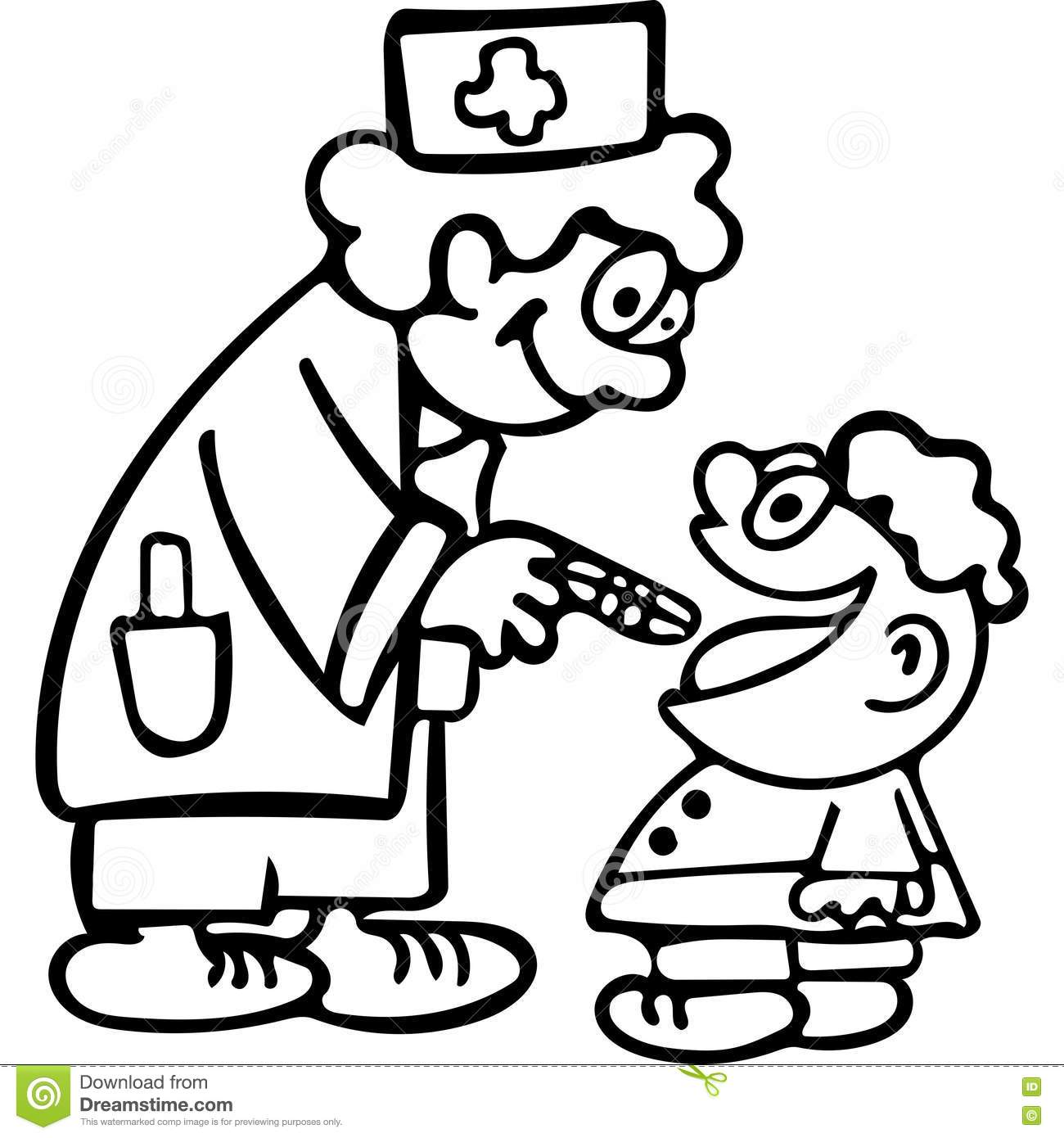 Coloring Picture Of Doctor Nurse Tools Coloring Page - oukas.info