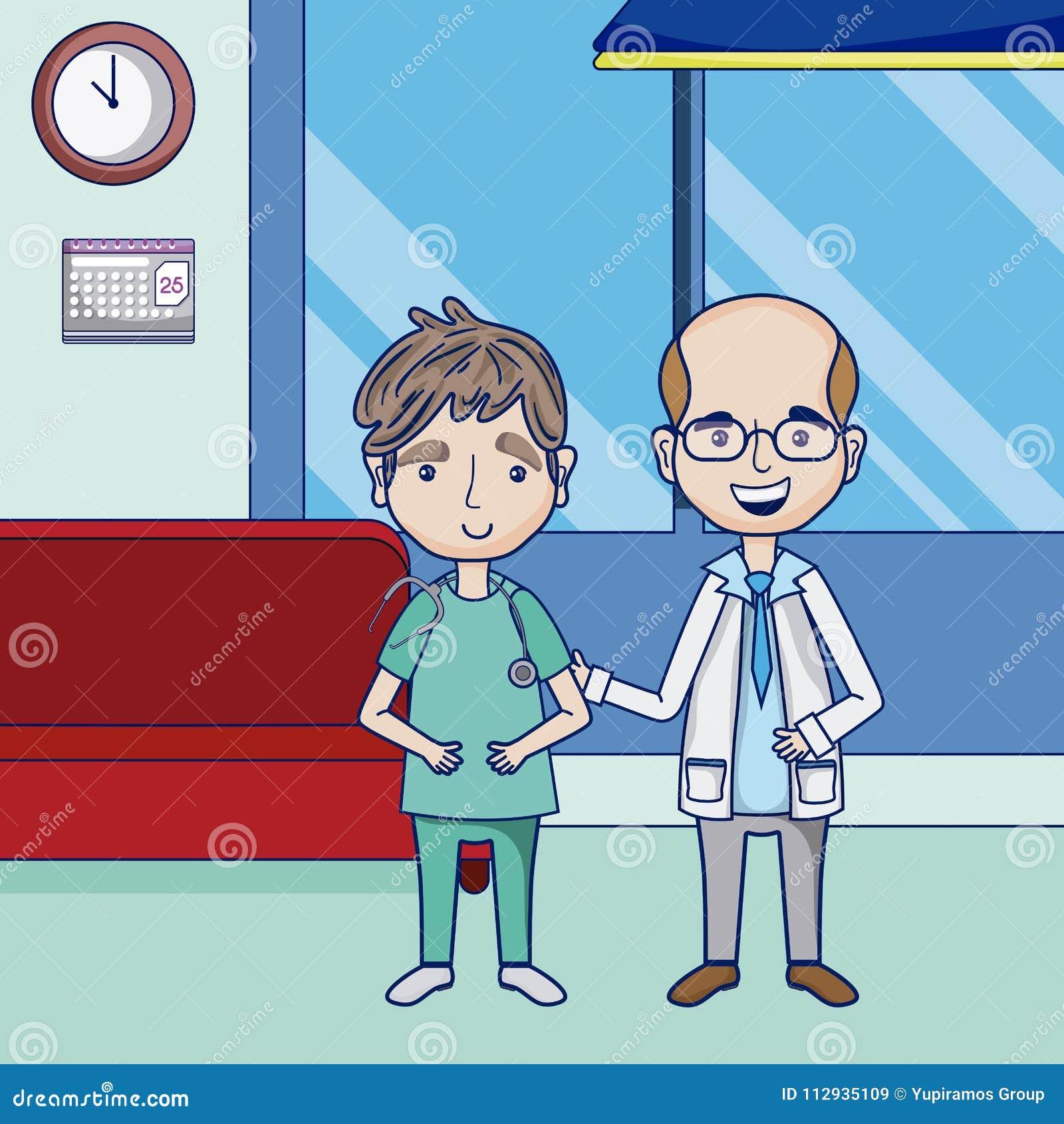Funny Cartoon Hospital Pics funny doctors cartoons stock vector. illustration of