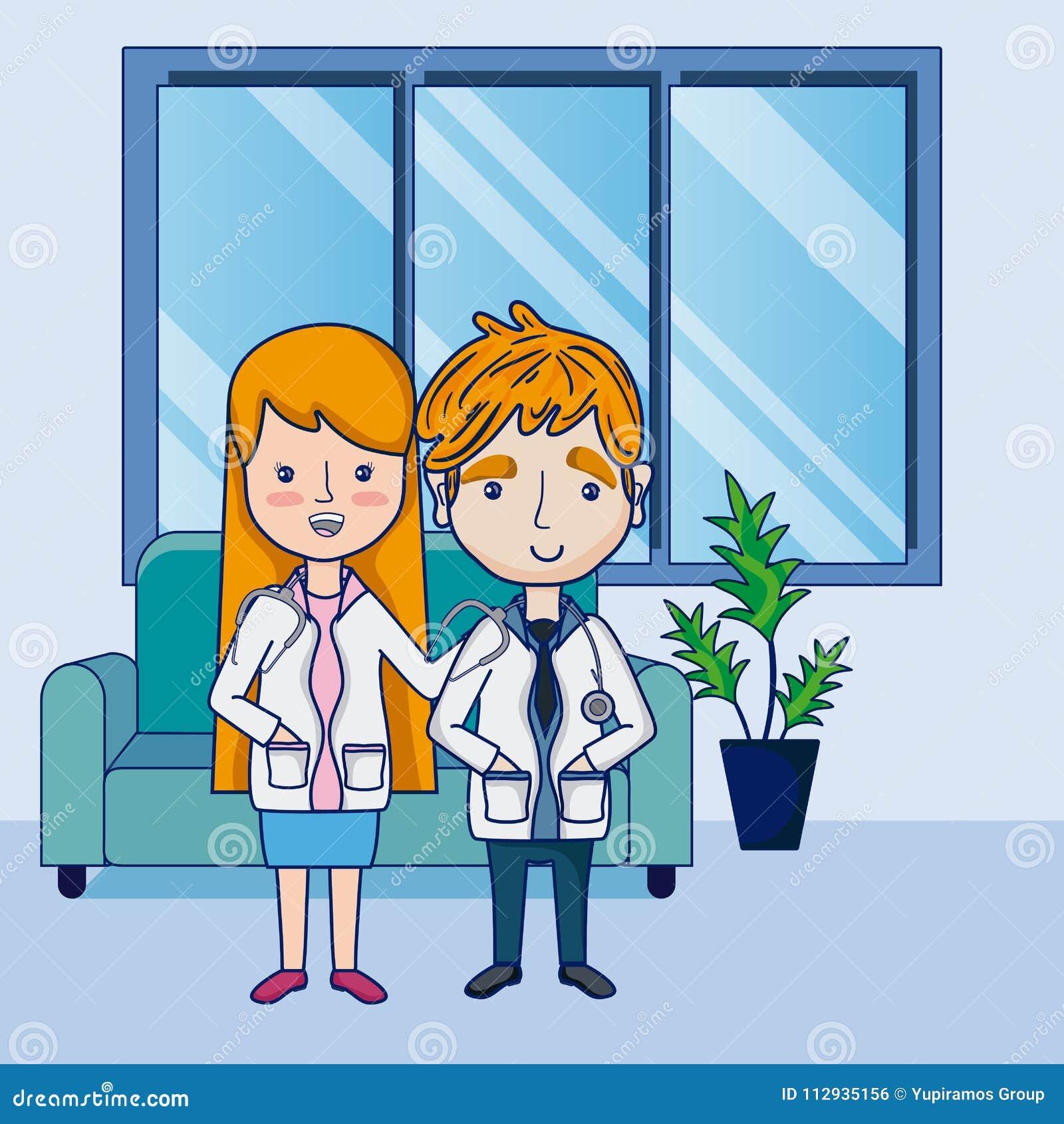 Funny Cartoon Hospital Pics funny doctors cartoons stock vector. illustration of comic