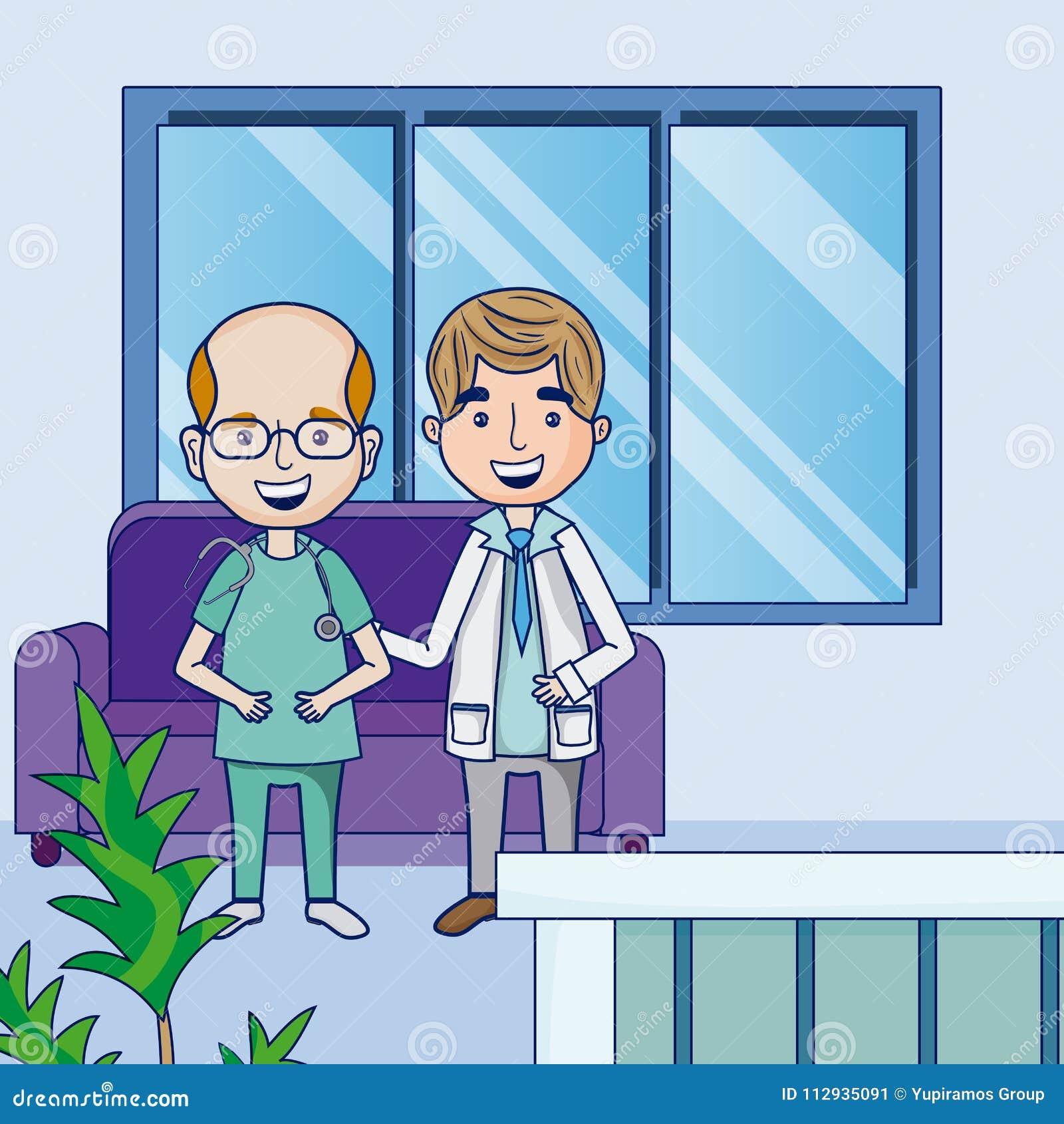 Funny Cartoon Hospital Pics funny doctors cartoons stock vector. illustration of humor