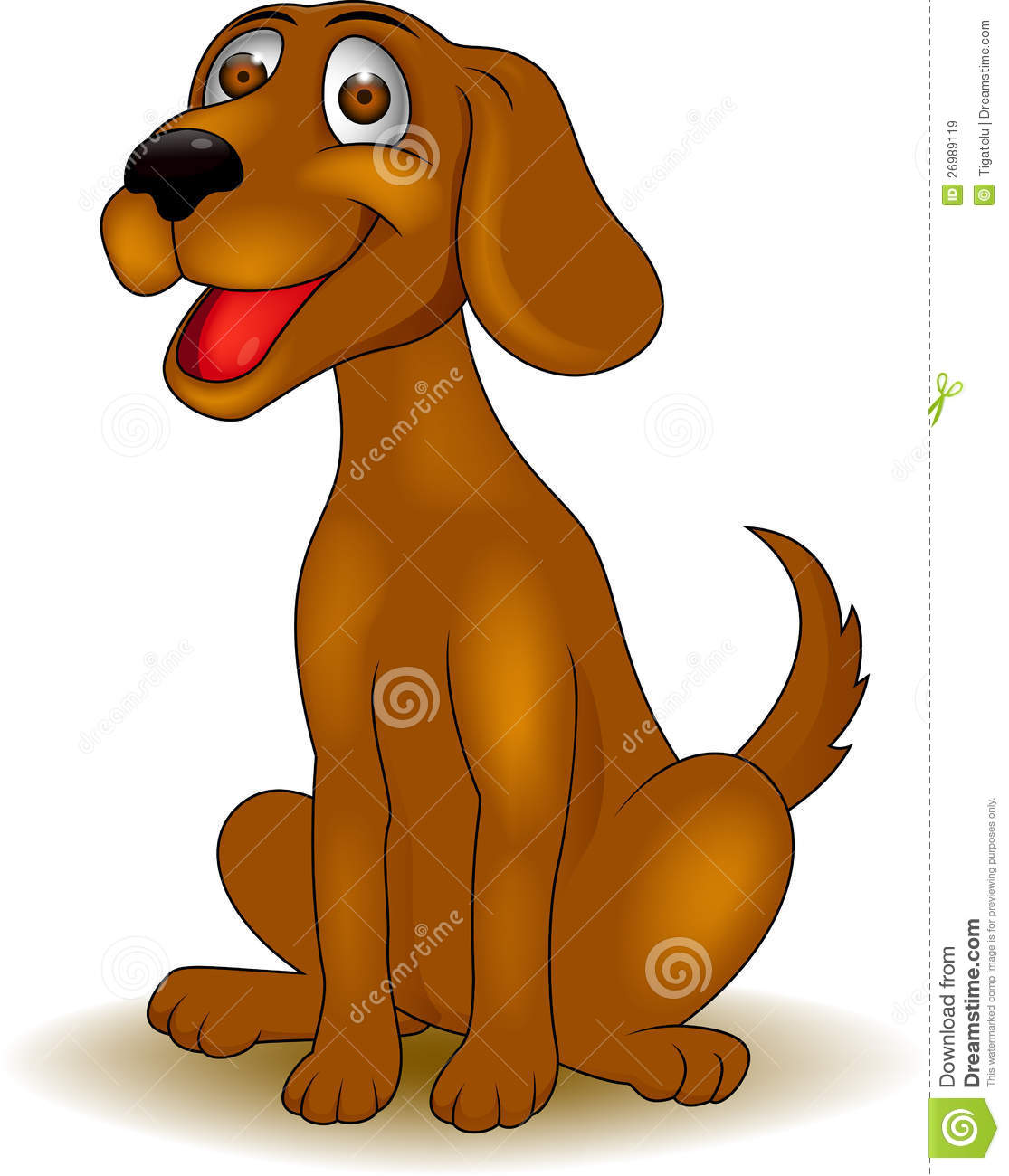 Funny Dog Cartoon Royalty Free Stock Images - Image: 26989119