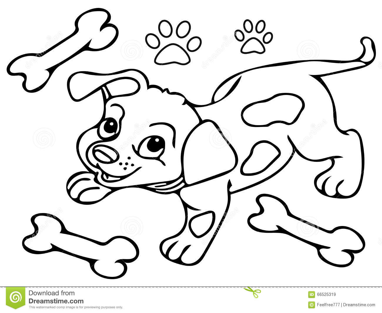 royalty free stock images  funny dog coloring pages  image  66525319