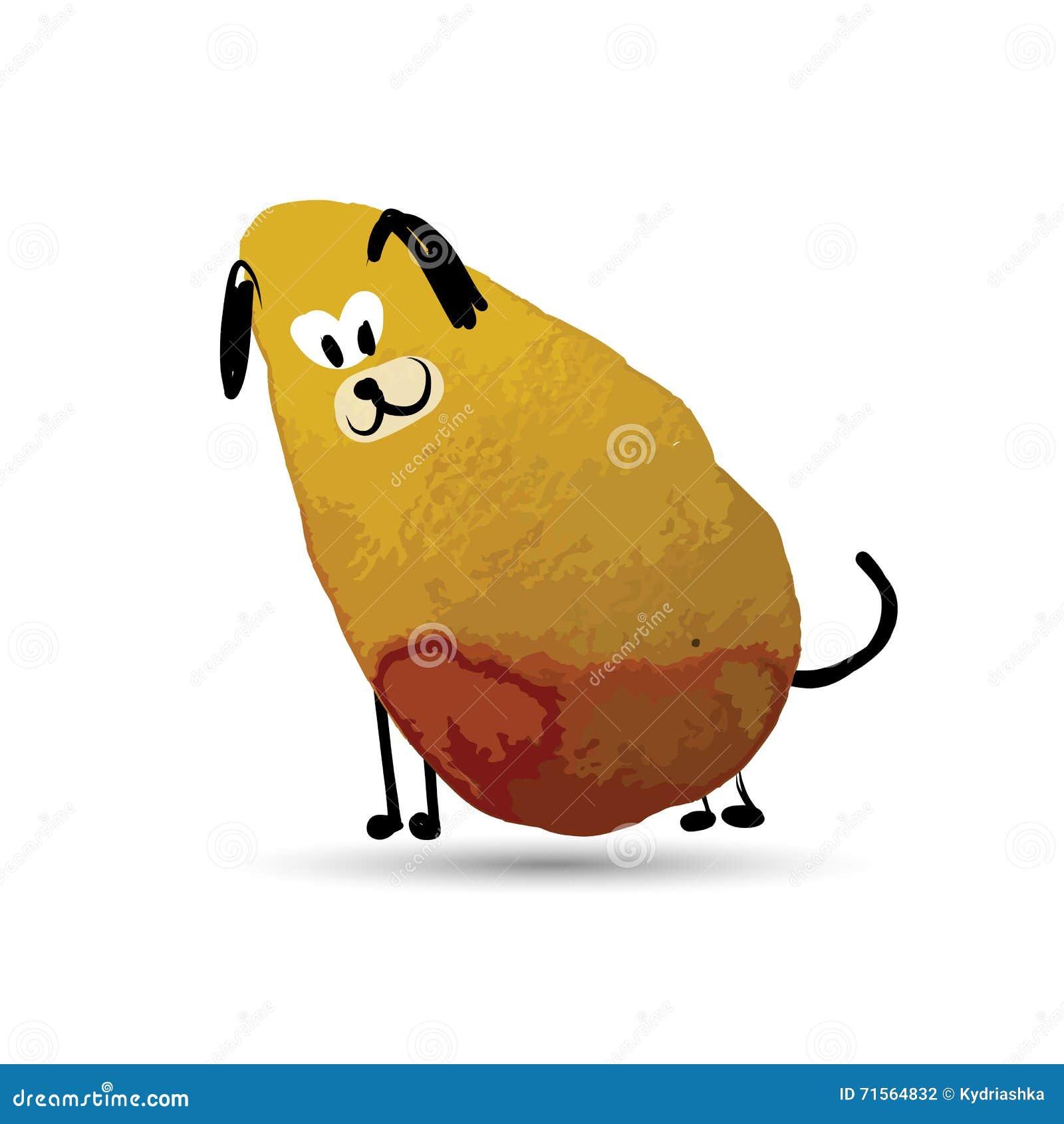funny dog  sketch for your design vector illustration Hump Back Sofa shape of you solfa syllables
