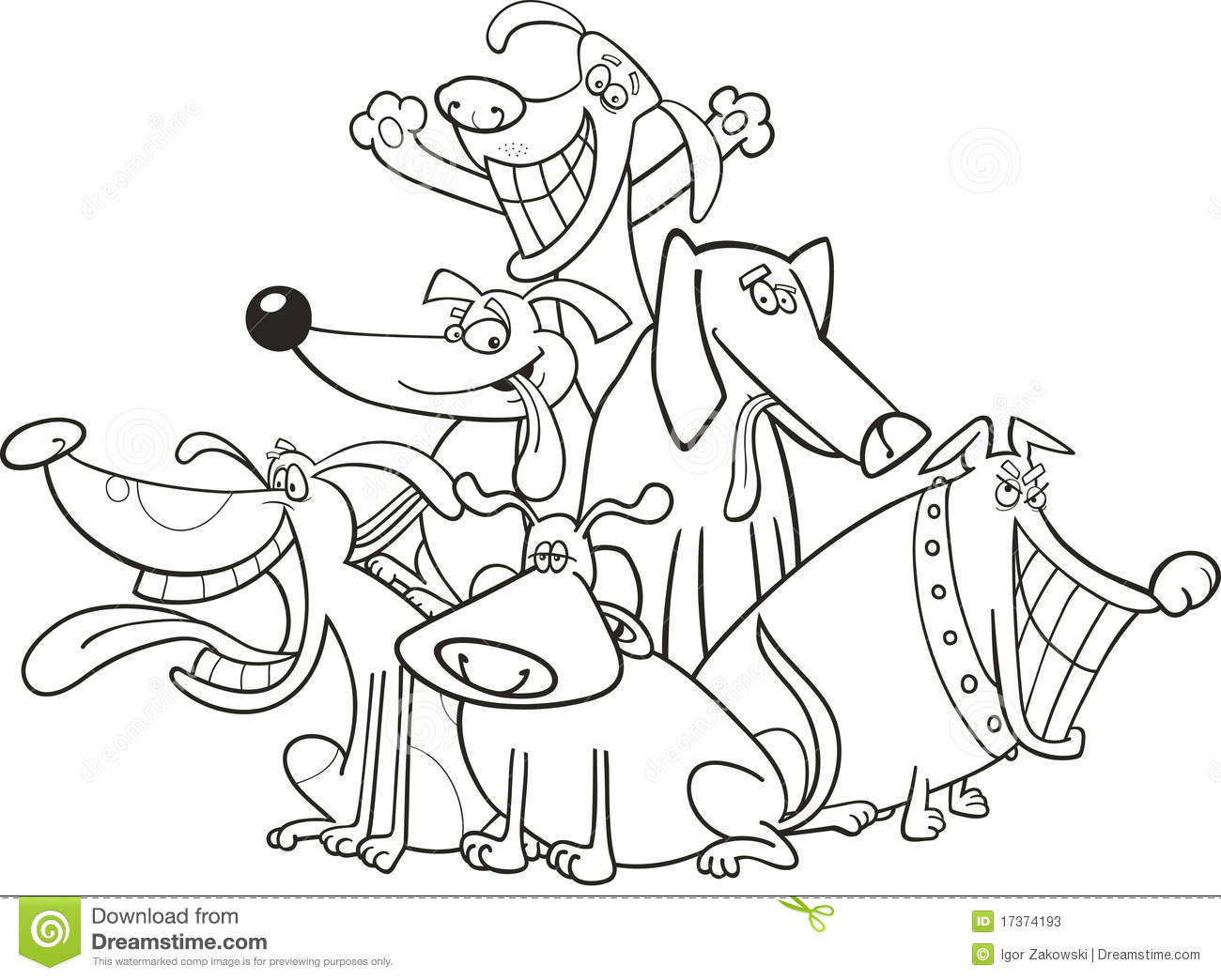 funny dogs for coloring stock photos  image 17374193