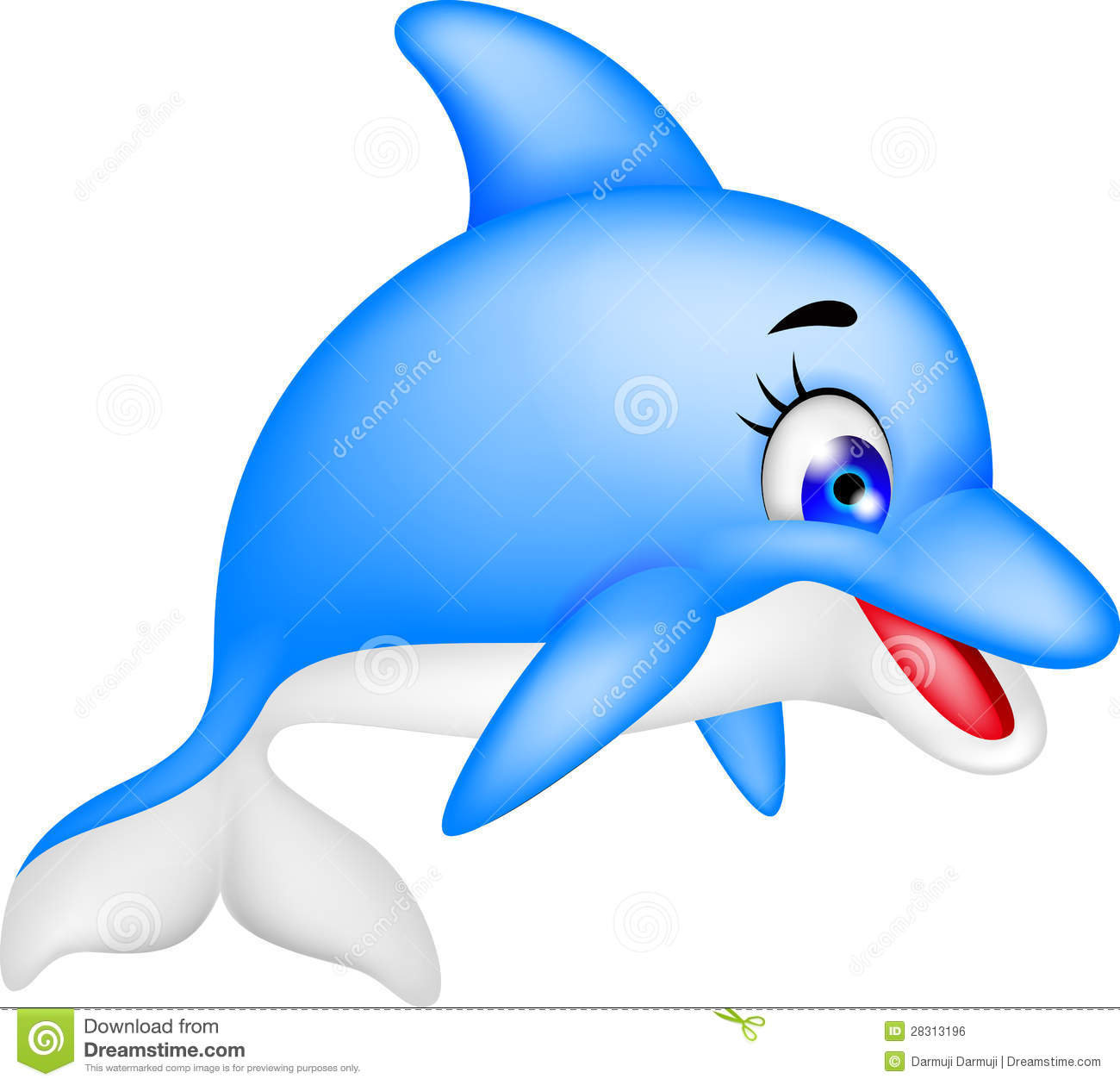 Funny Dolphin Cartoon Royalty Free Stock Image - Image: 28313196