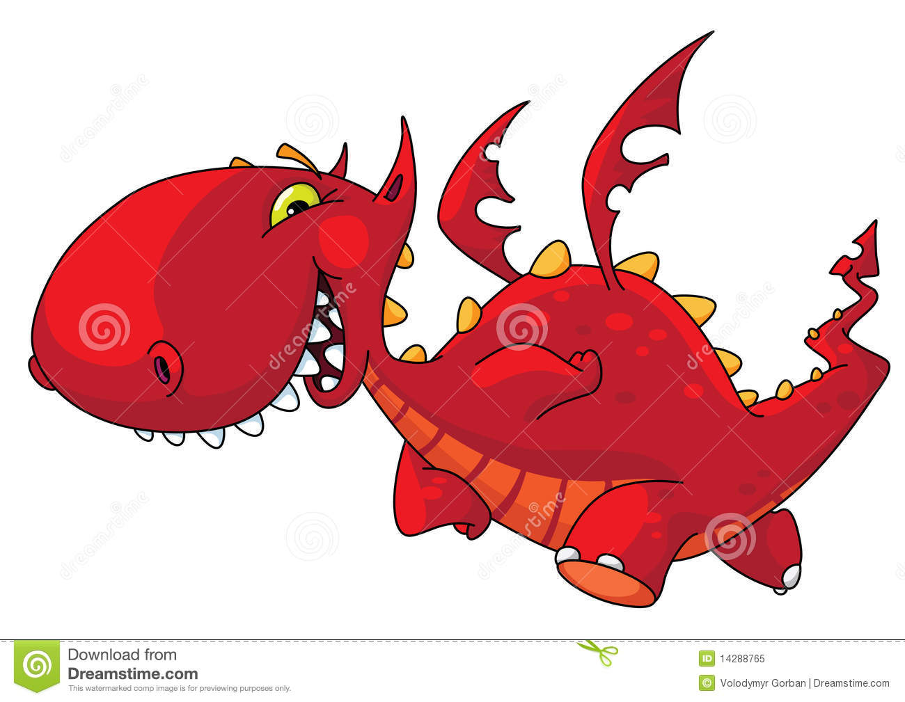 Funny Dragon Royalty Free Stock Photo - Image: 14288765