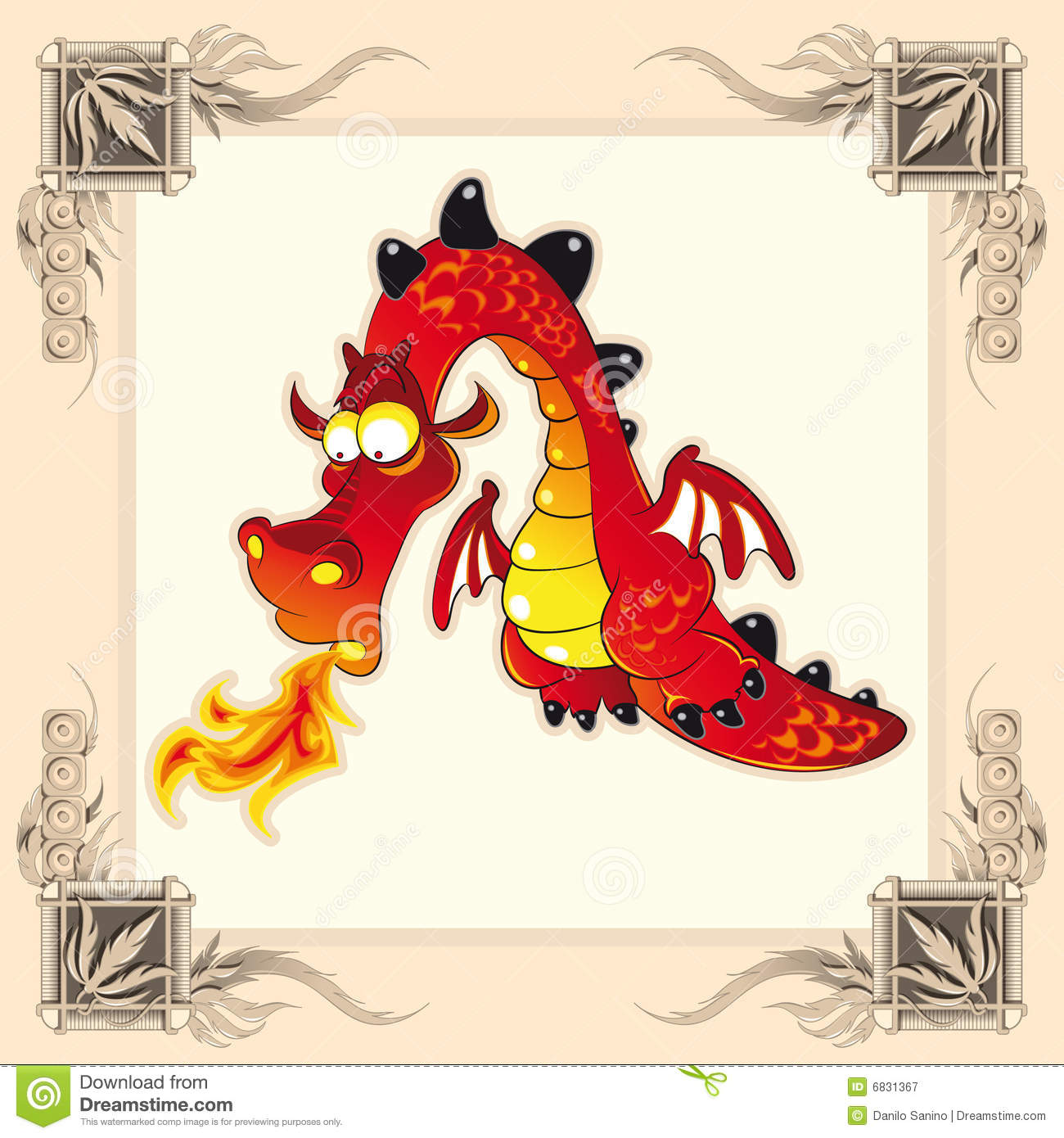 Funny Dragon Vector Image Software Illustrator