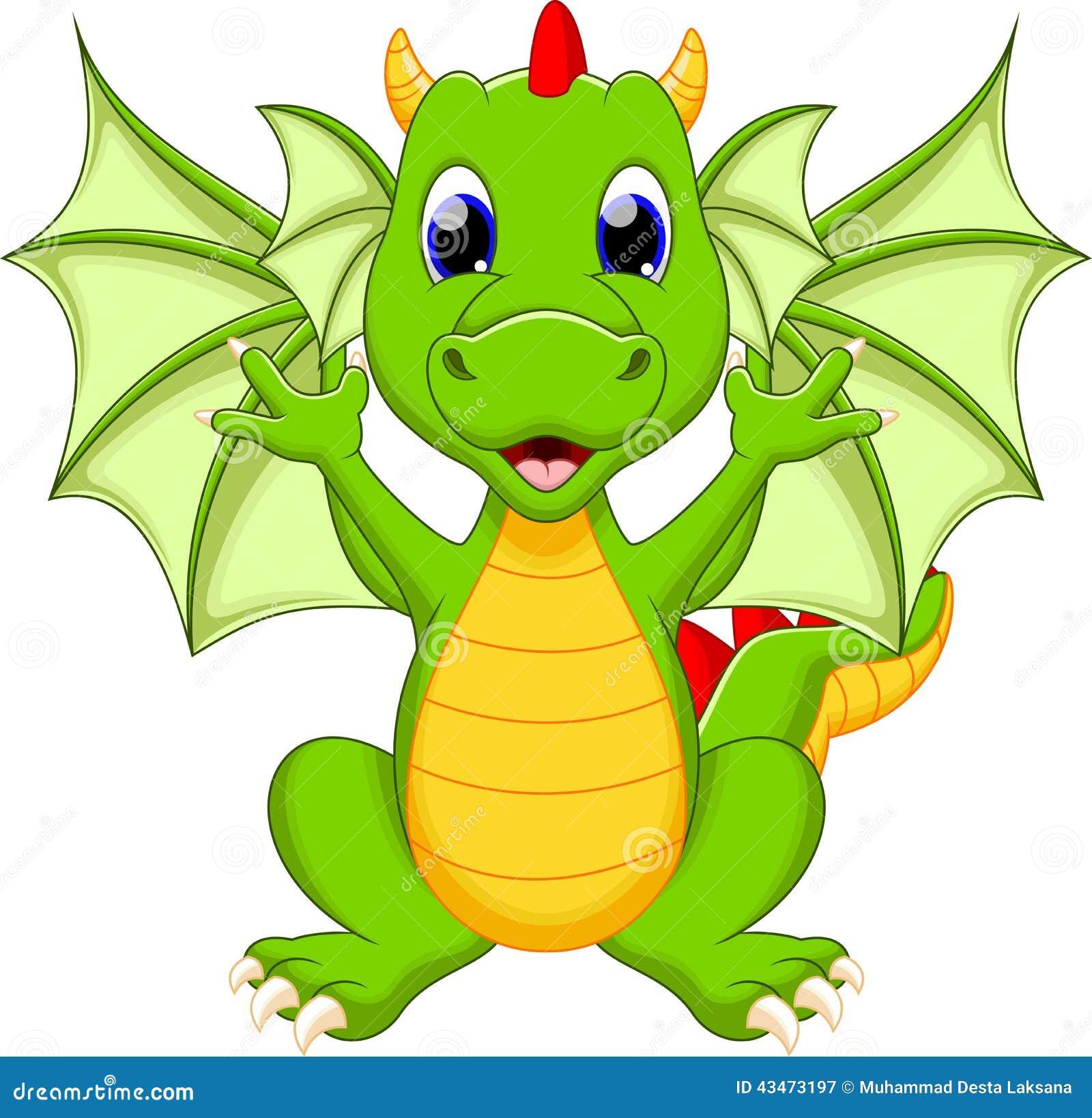 Funny Dragon Cartoon Stock Illustration Illustration Of