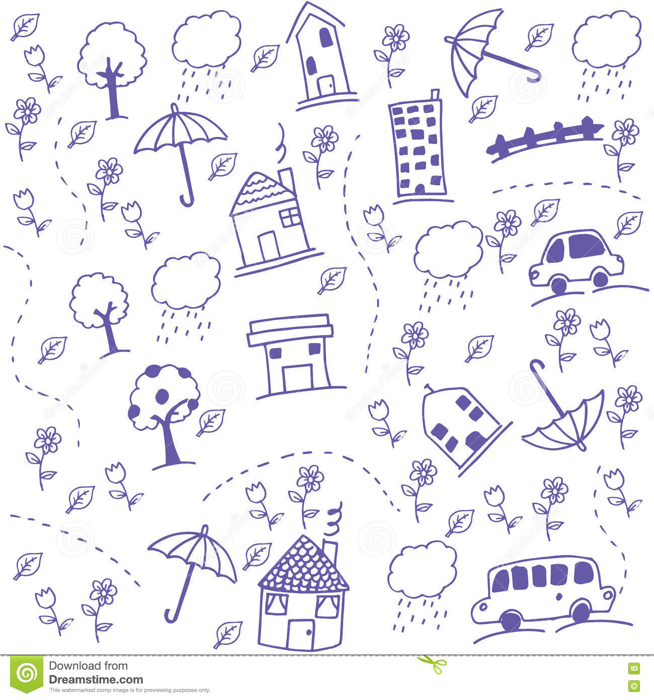 Scribble Drawing Kids : Funny draw kids doodle art stock vector image