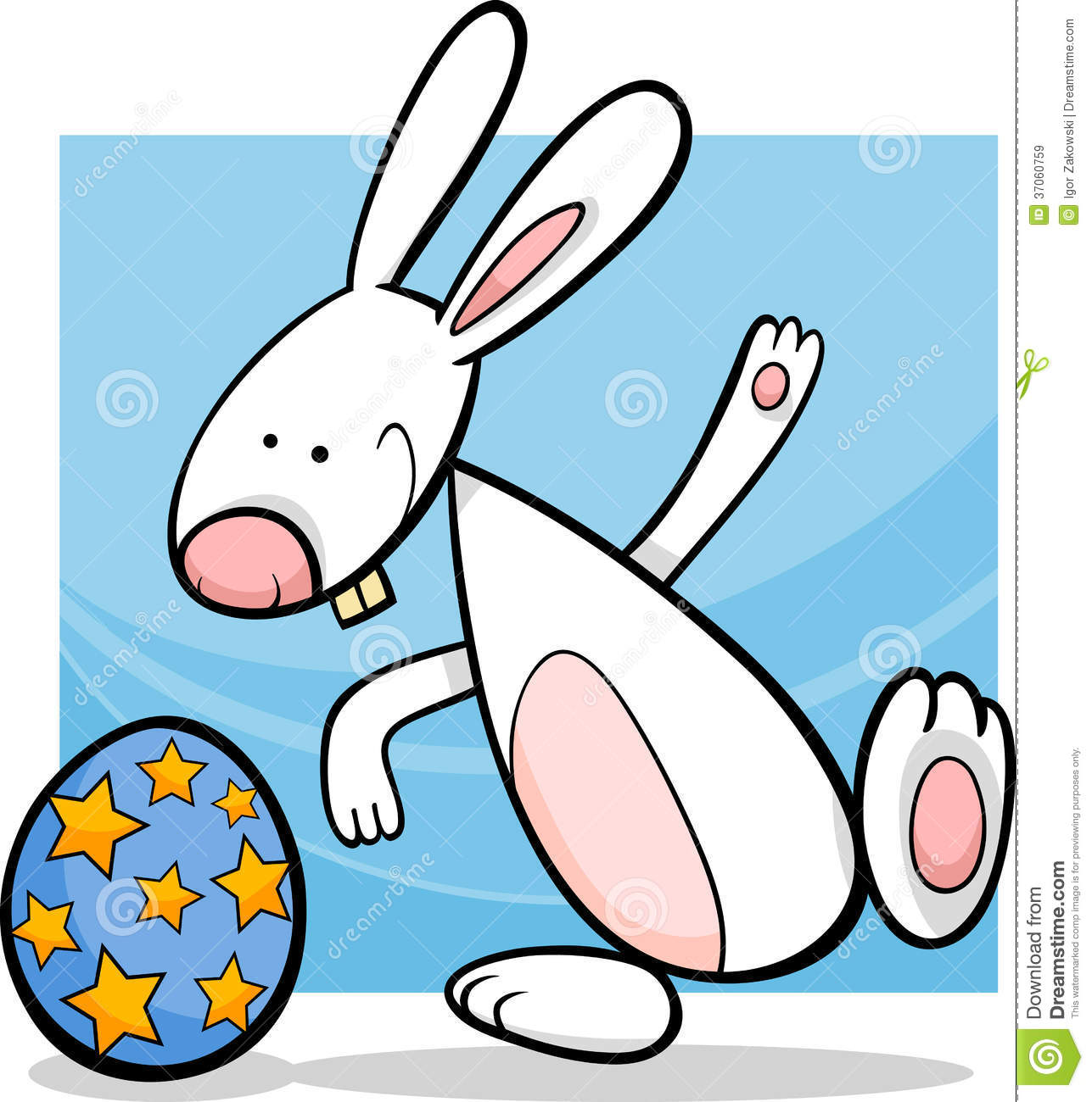 Funny Easter Bunny Cartoon Illustration Royalty Free Stock Images ...