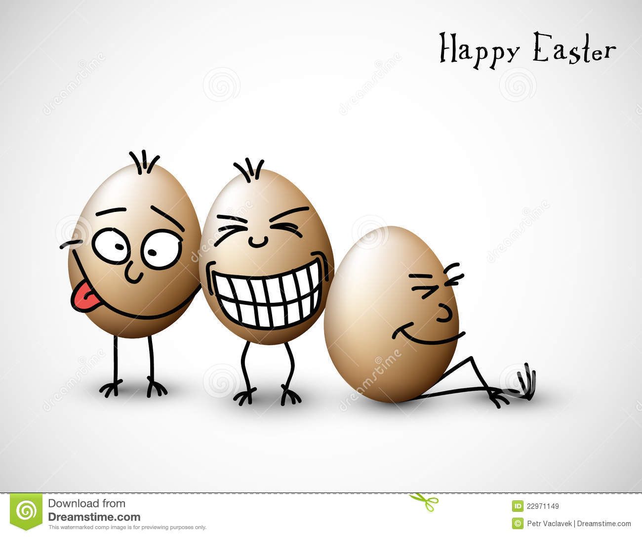 Funny Easter Eggs Royalty Free Stock Images - Image: 22971149