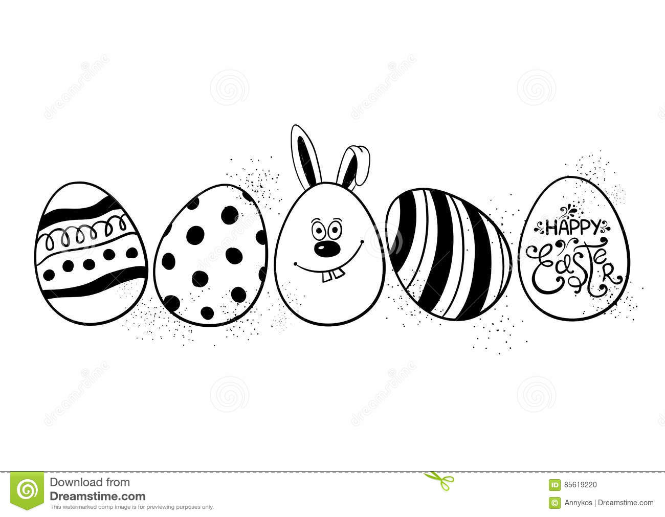 Funny easter greeting card with eggs stock vector illustration of funny easter greeting card with eggs kristyandbryce Choice Image
