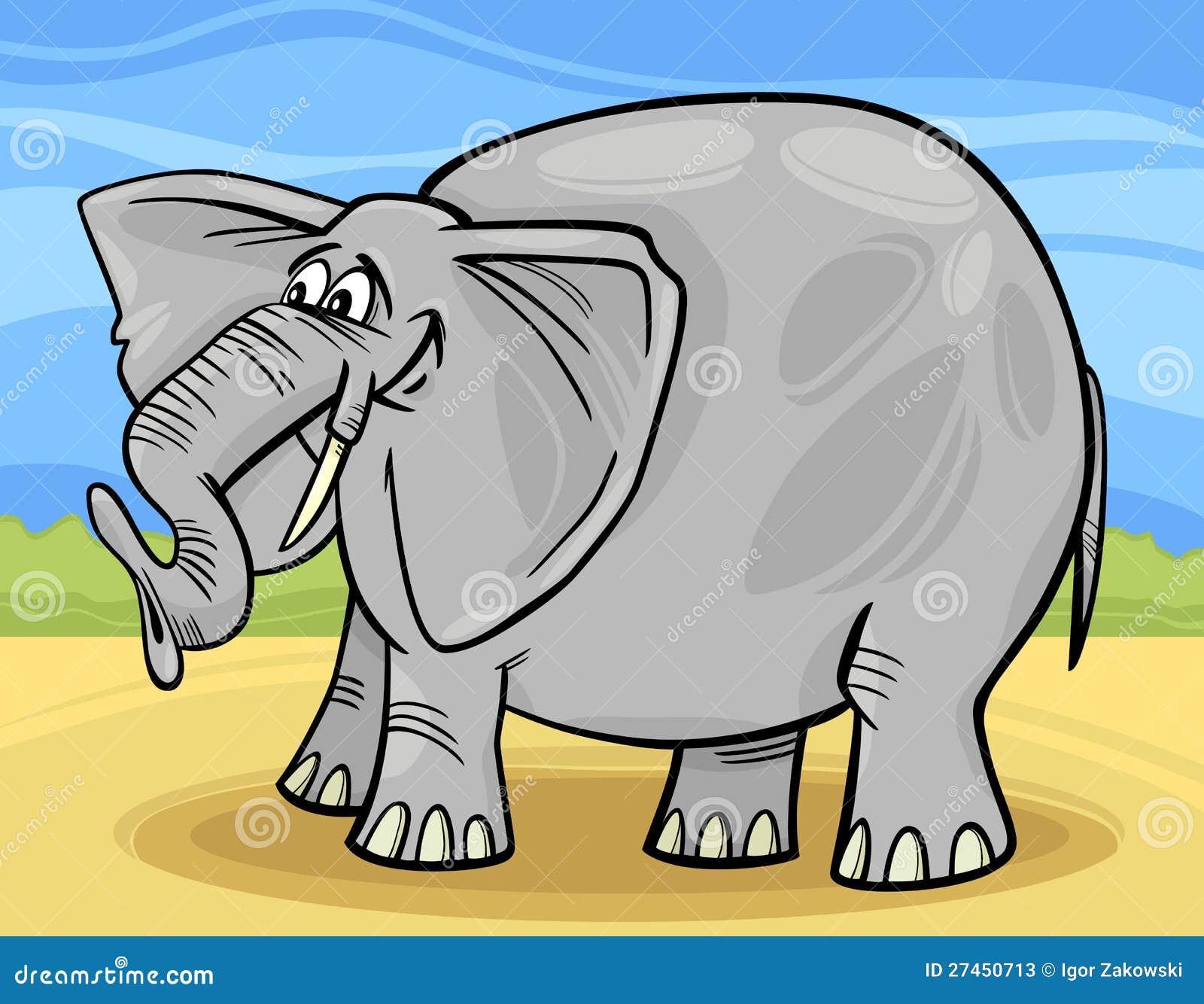 Funny elephant cartoon illustration stock photos image
