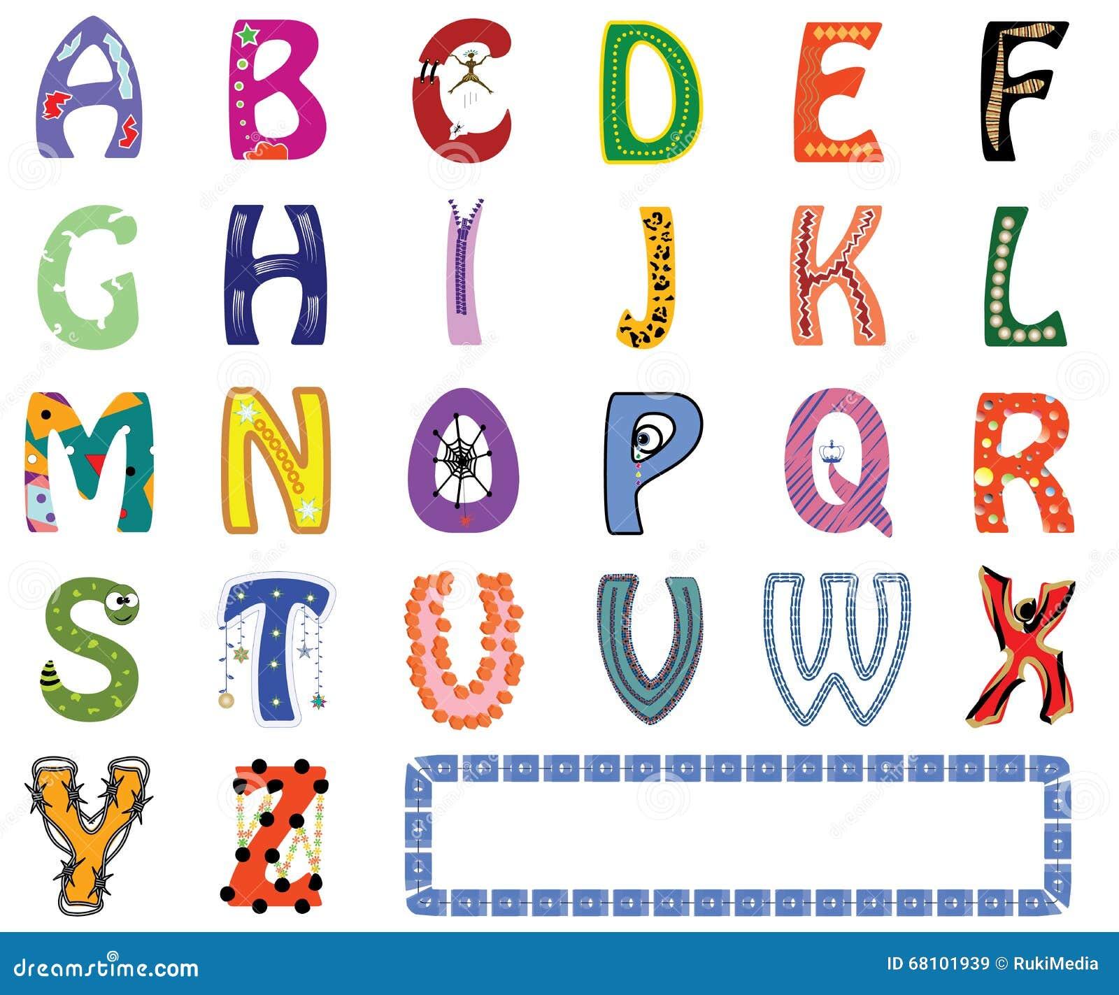 Funny English Alphabet Stock Illustration Of Language