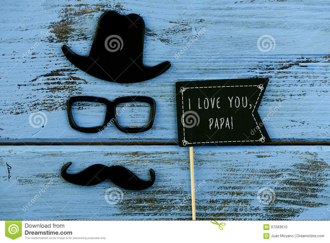 Funny Face Of A Man And Text I Love You Papa Stock Photo Image Of