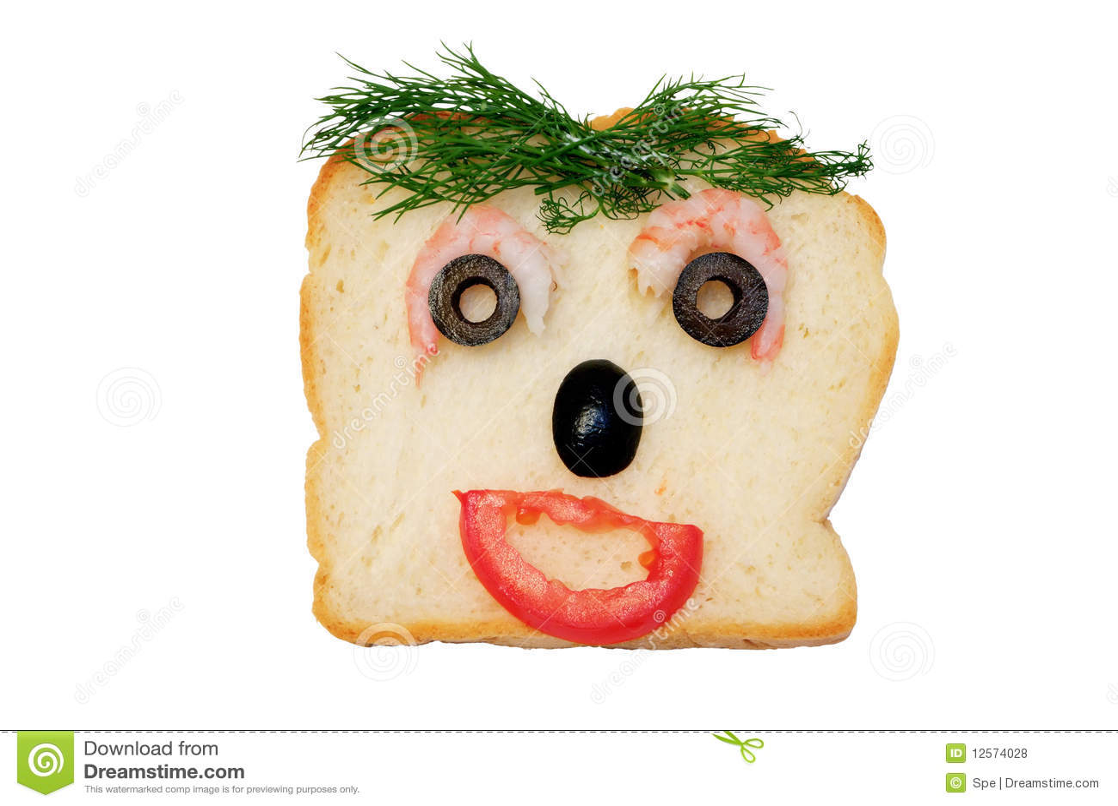 funny face sandwich royalty free stock photos image Shrimp Boil Clip Art Shrimp Logos Clip Art