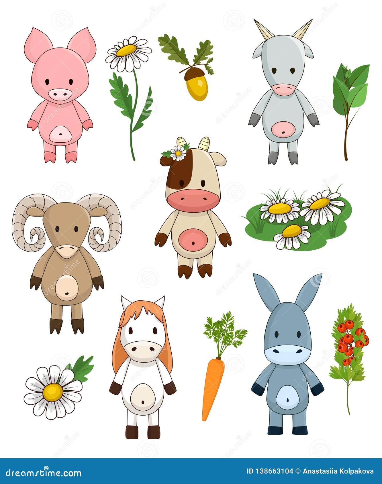 Funny Farm Animals, Cute Toy Livestock For Children ...