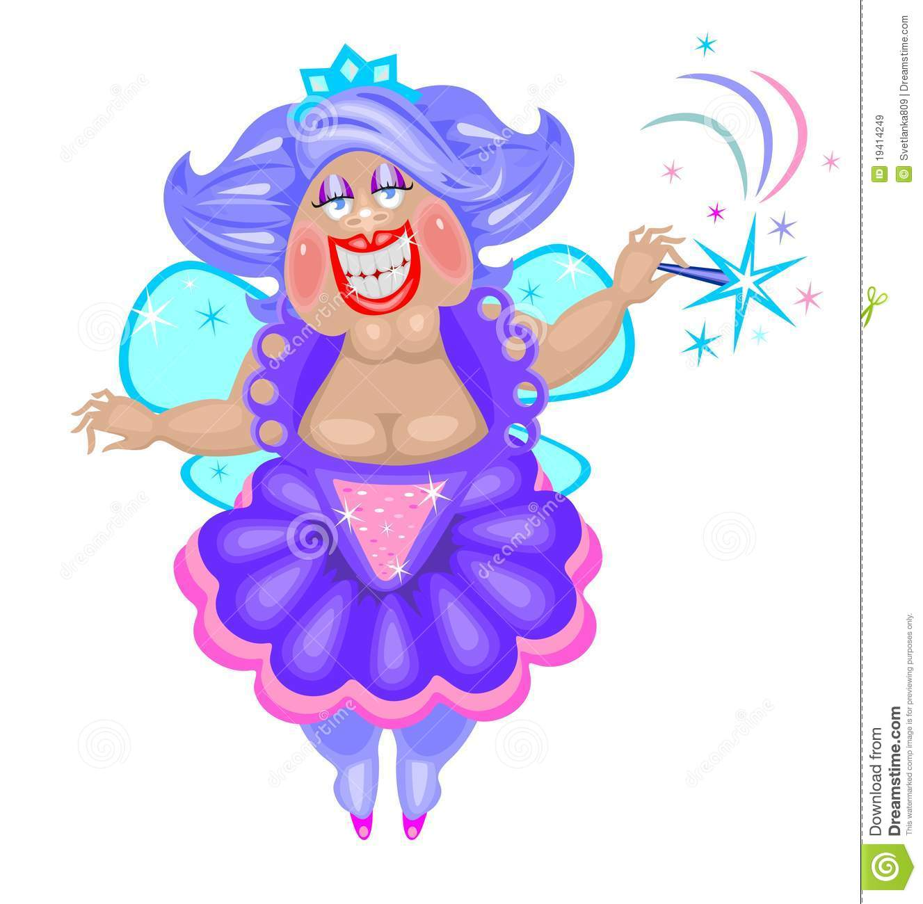 Funny Fat Fairy Royalty Free Stock Images - Image: 19414249