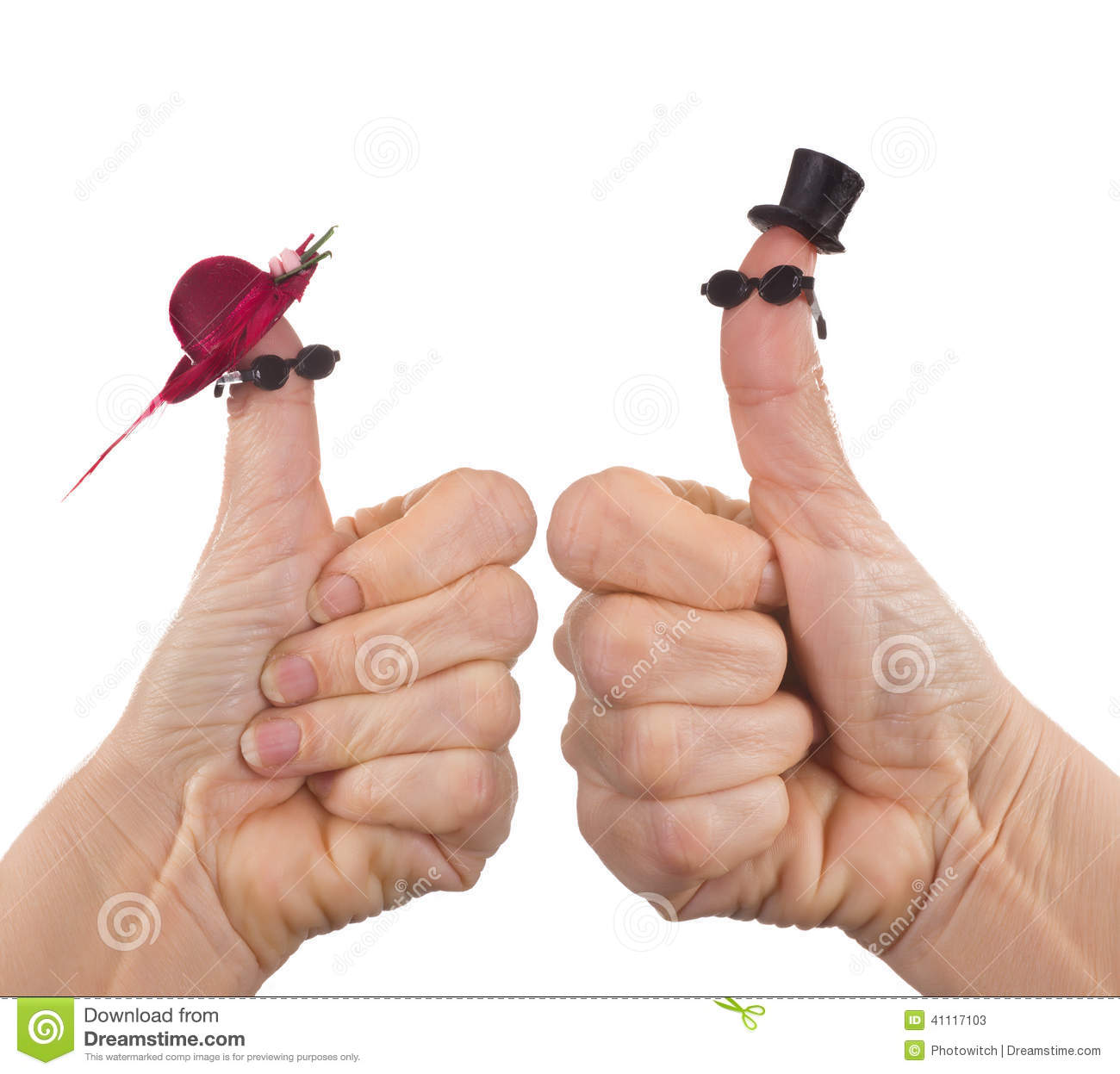Funny finger puppet tourists