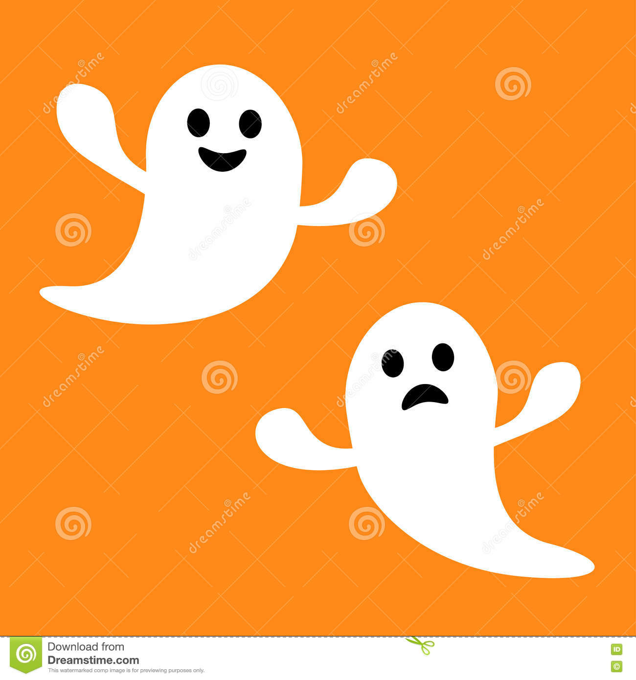 Scary Halloween Ghost Boo Face Royalty Free Stock Image - Image: 20806