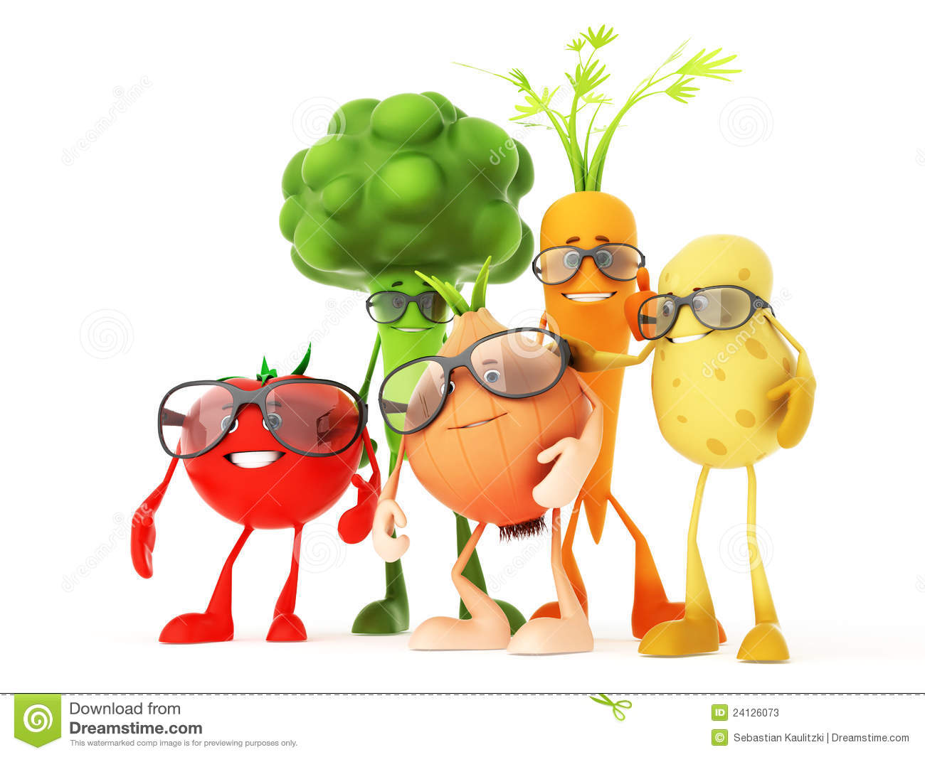 Funny Food Characters Stock Photos - Image: 24126073