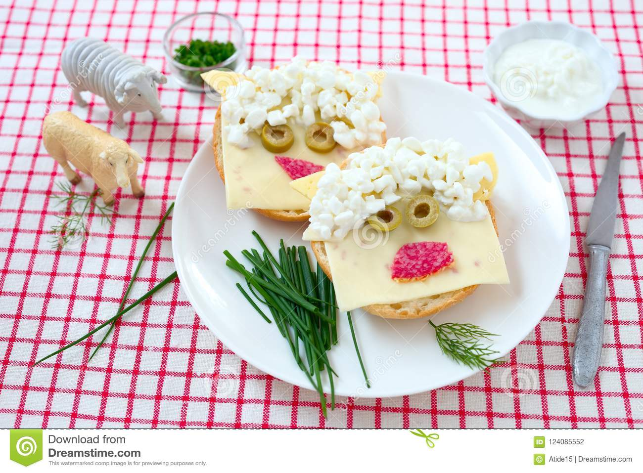 Funny sandwich sheep