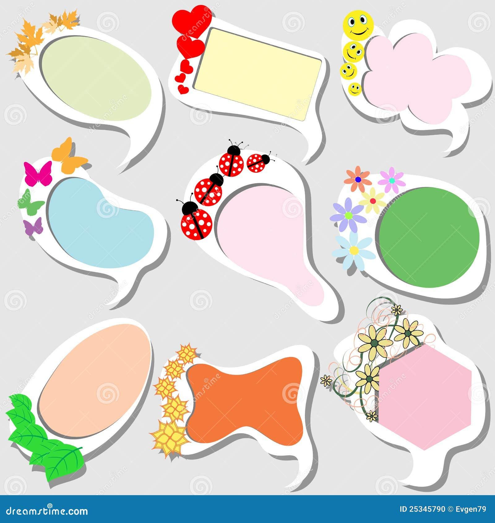 Funny frames stock vector. Illustration of blank, invitation - 25345790