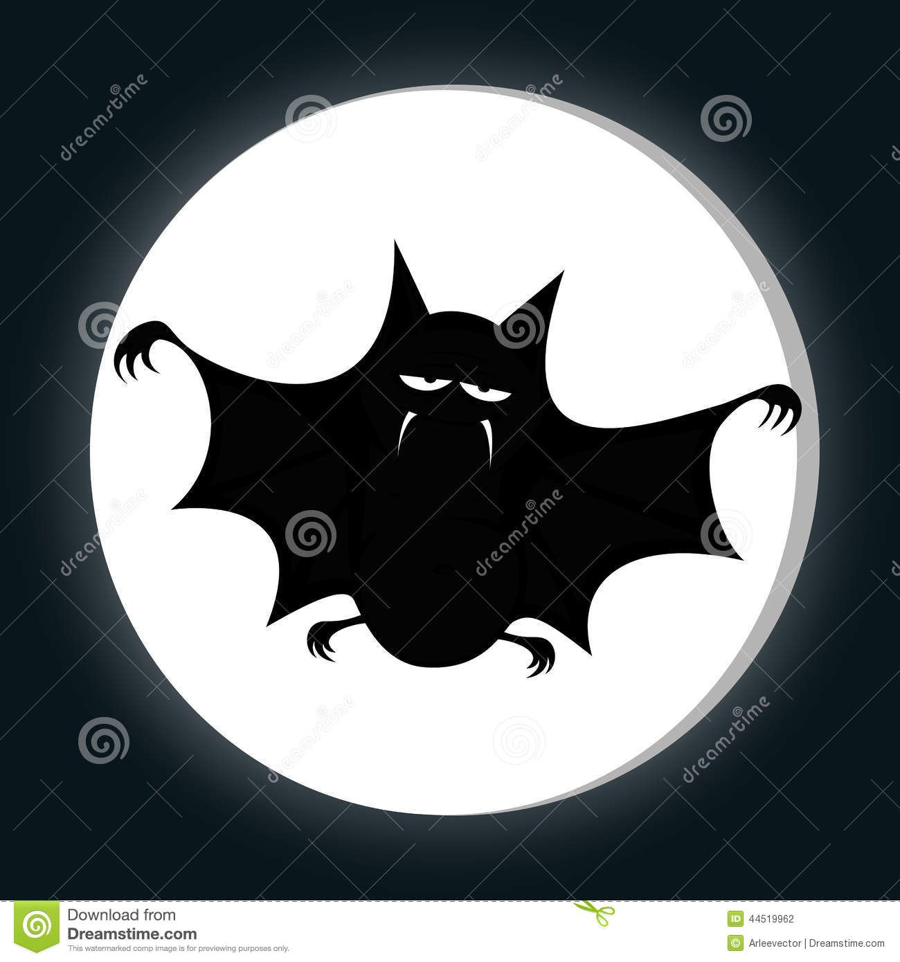 Stock Illustration Funny Freaky Bat Big Black Fat Smiling You Full Moon Midnight Silhouette Image44519962 on vampire bats cartoon