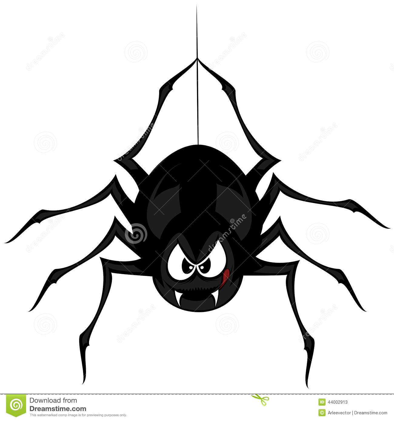 Funny Freaky Spider Stock Vector Image 44002913
