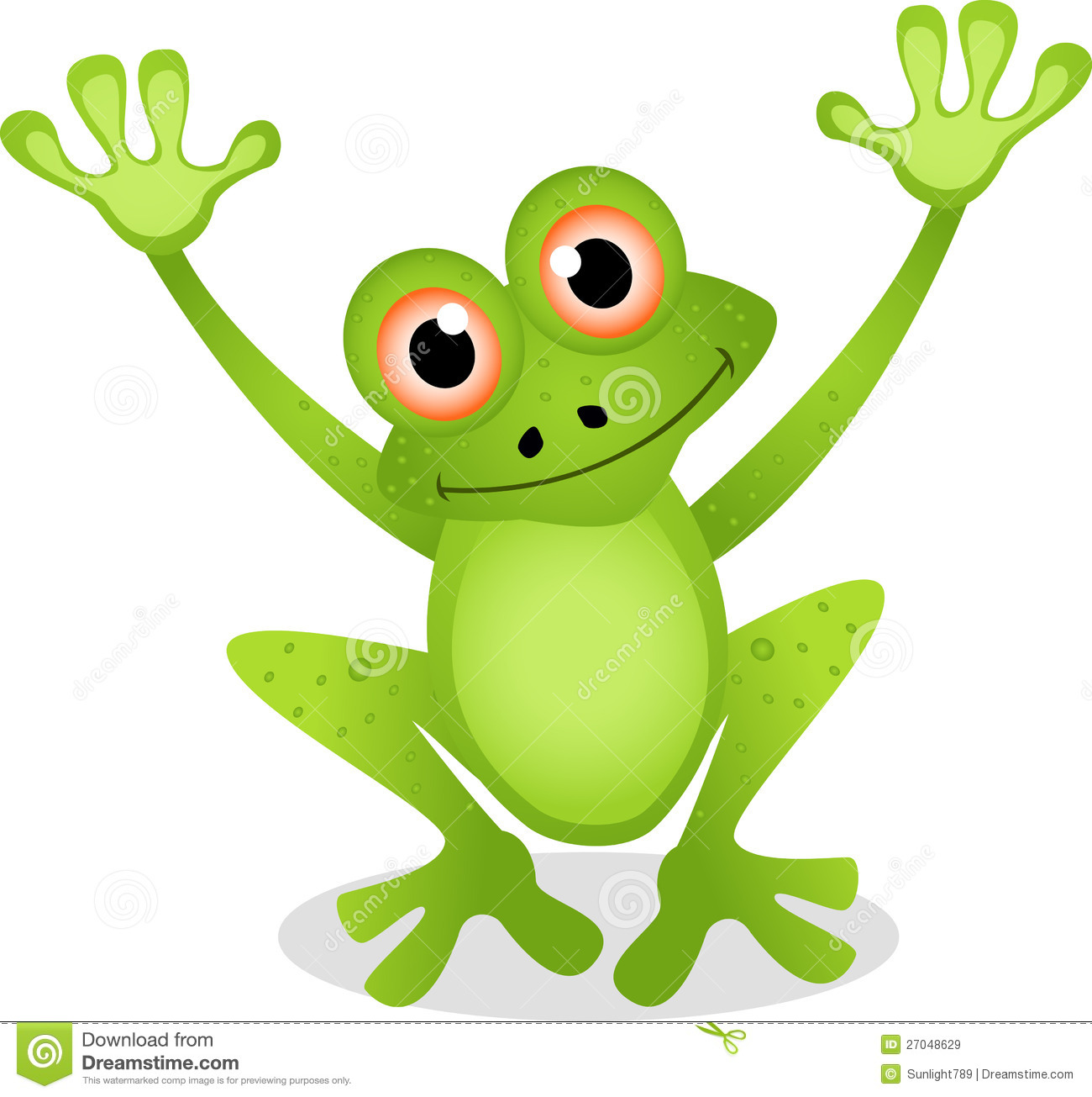 Funny frog cartoon stock illustration. Image of creature ...