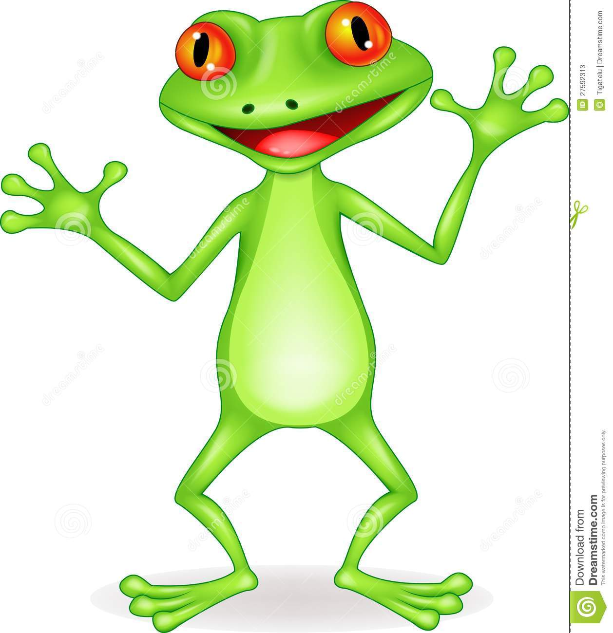 Funny Frog Cartoon Stock Photos - Image: 27592313