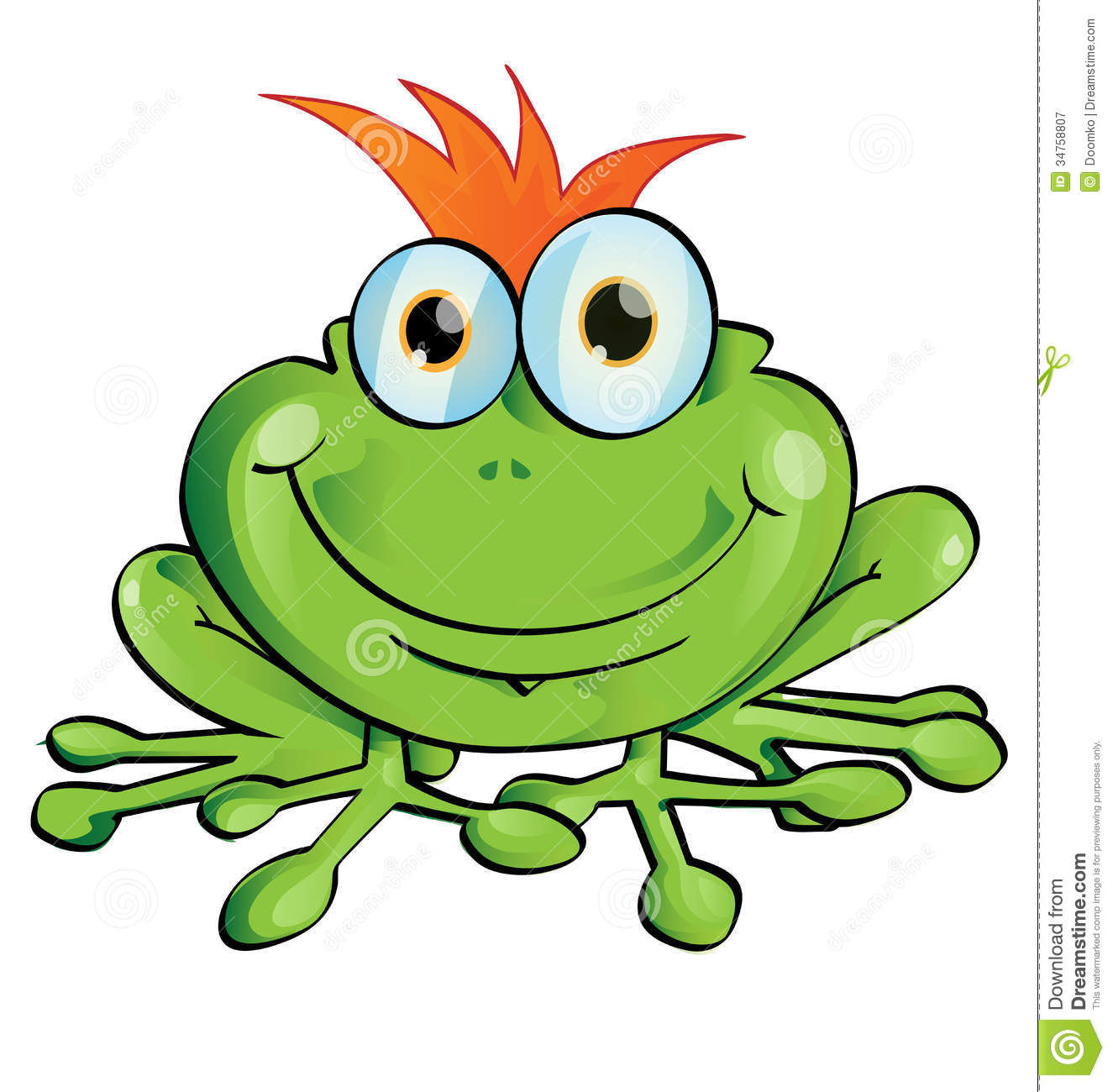 Funny Frog Royalty Free Stock Photography - Image: 34758807