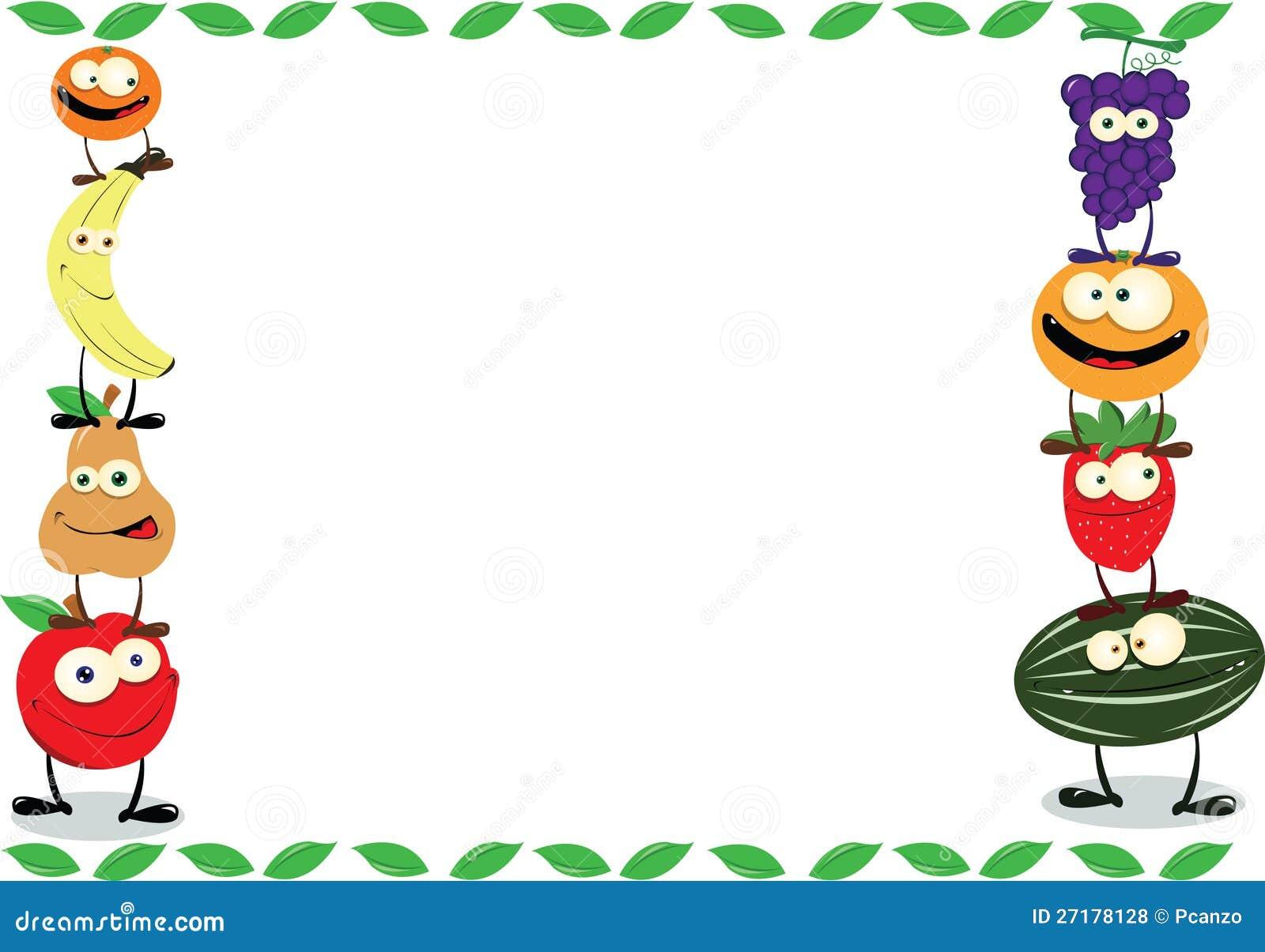 Funny fruit frame royalty free stock photos image 27178128