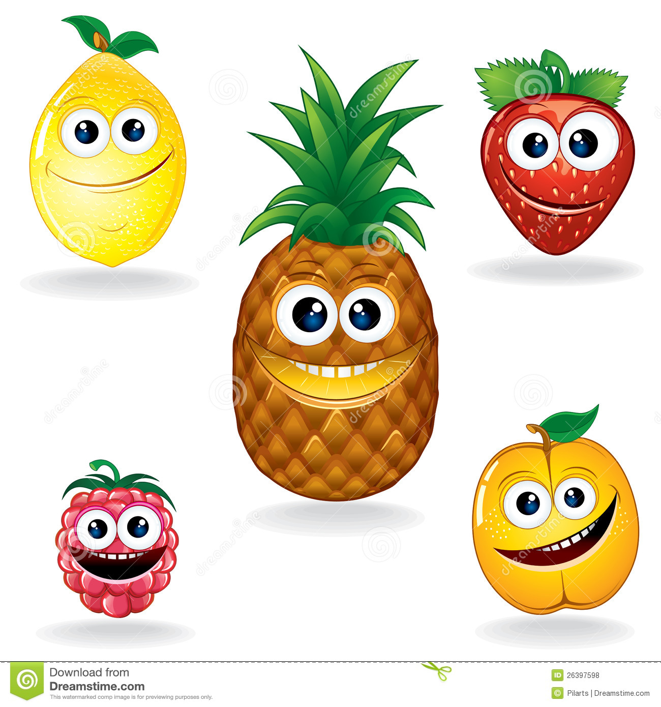 Funny Fruits A Royalty Free Stock Photos Image 26397598