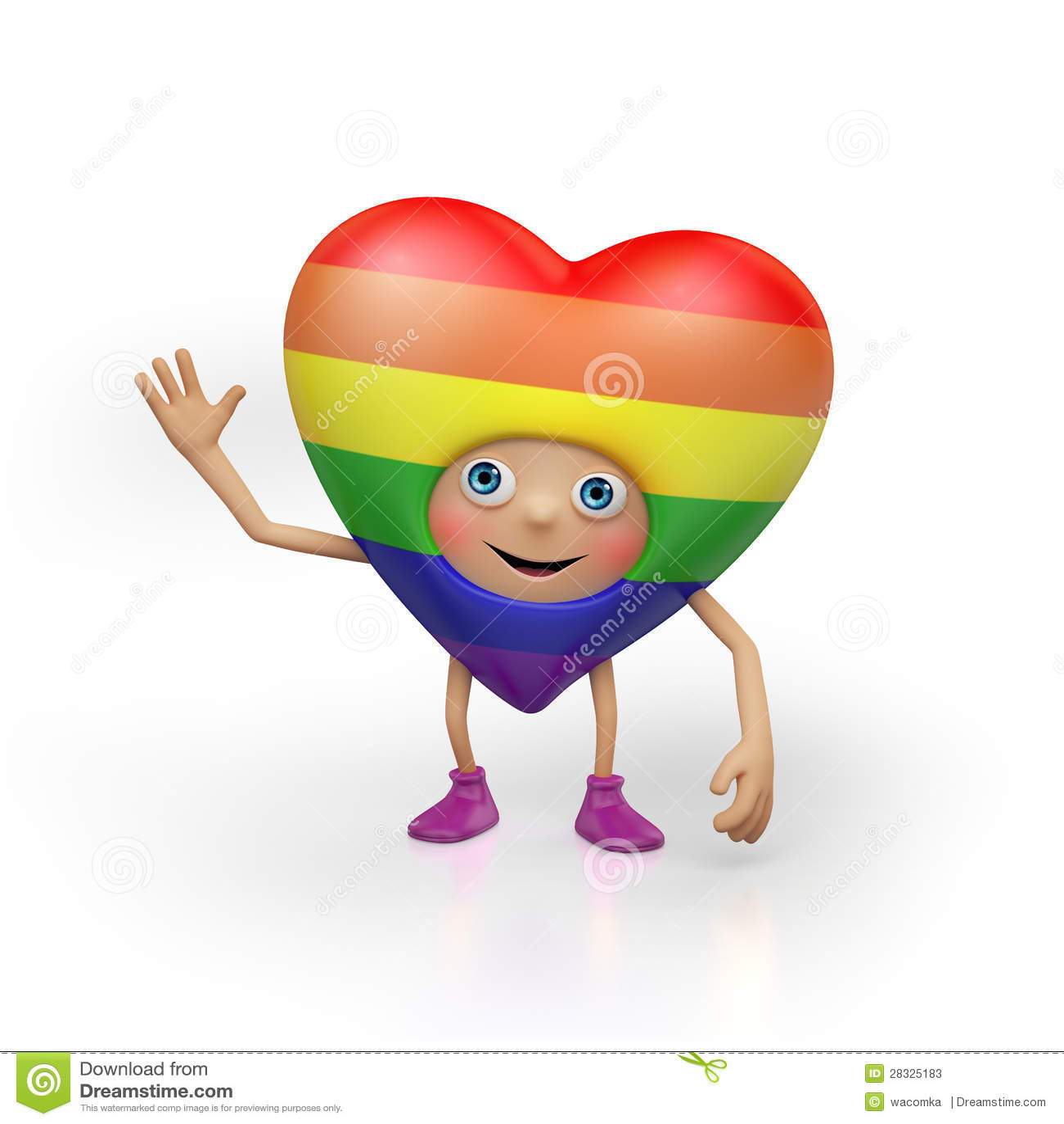 funny gay valentine heart cartoon character