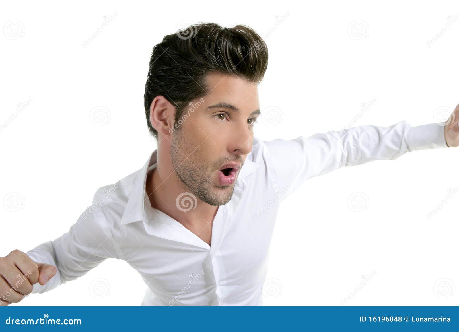 male models dancing funny