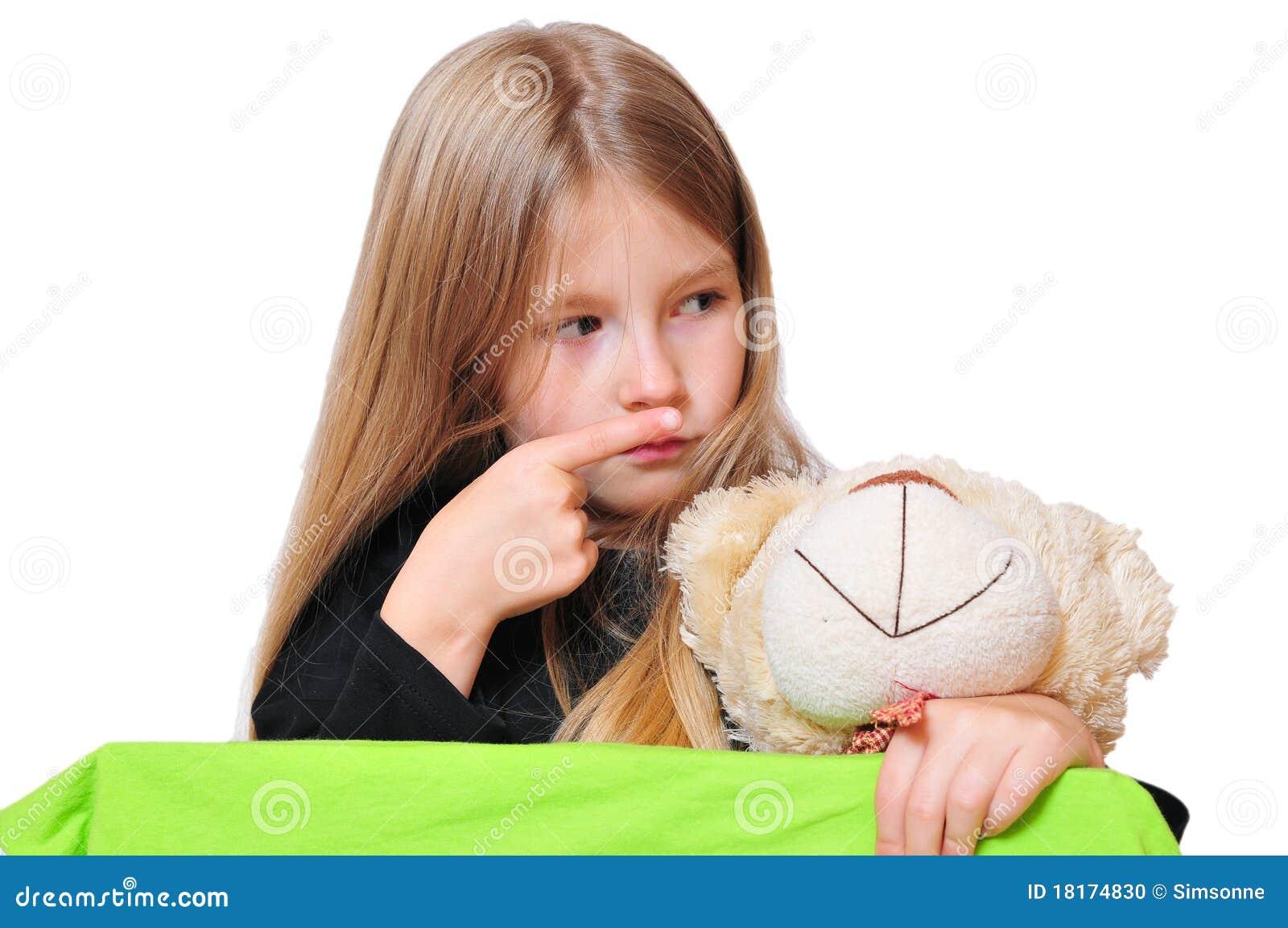 Funny Girl Looking Teddy Stock Photo - Image: 18174830