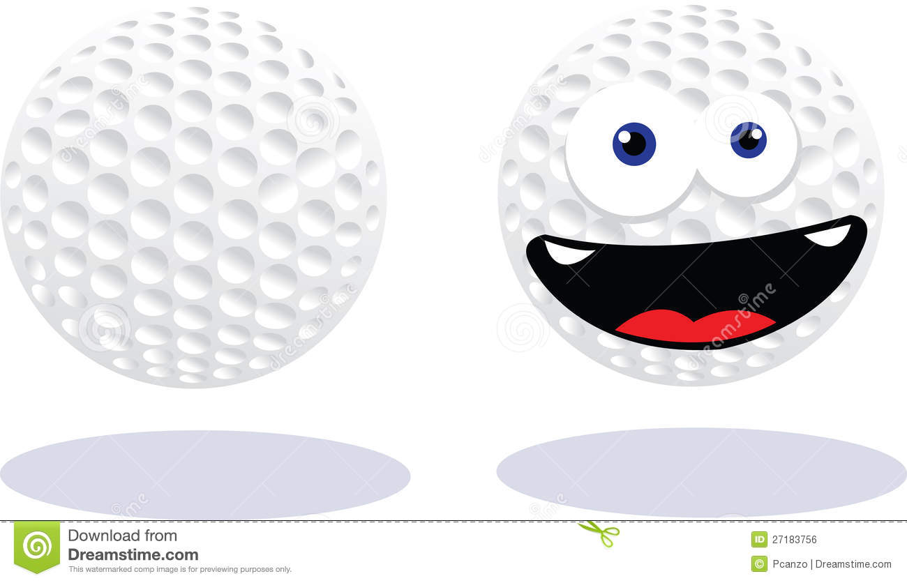 Funny Golf Ball Royalty Free Stock Image - Image: 27183756