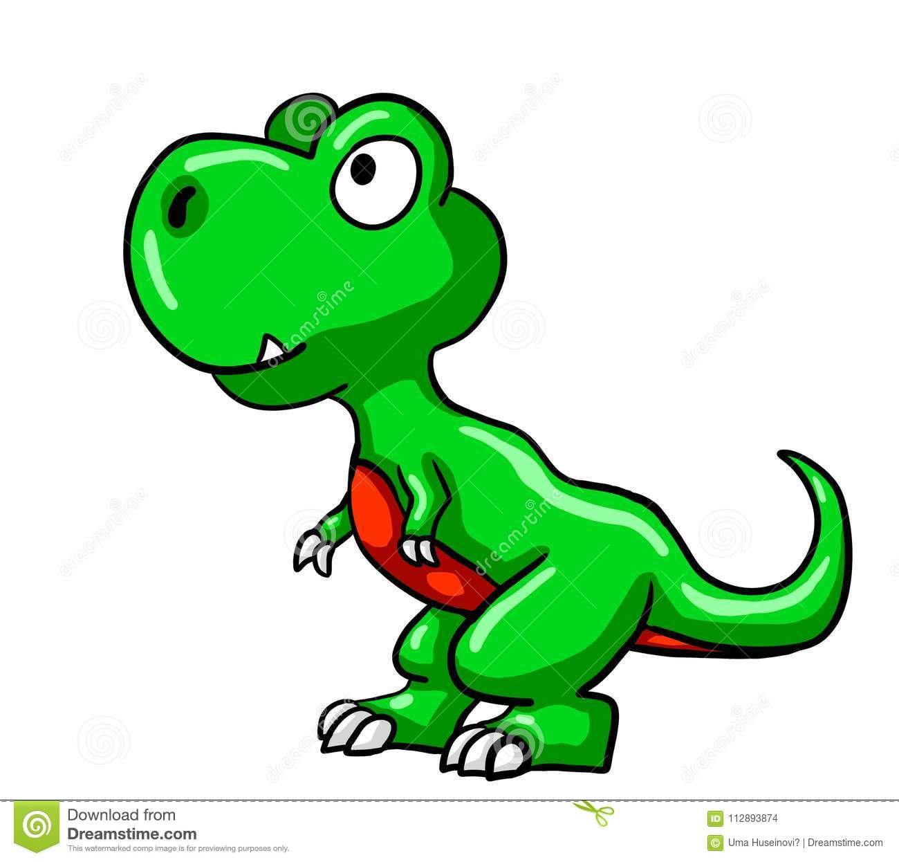 funny green baby t rex stock illustration illustration of character