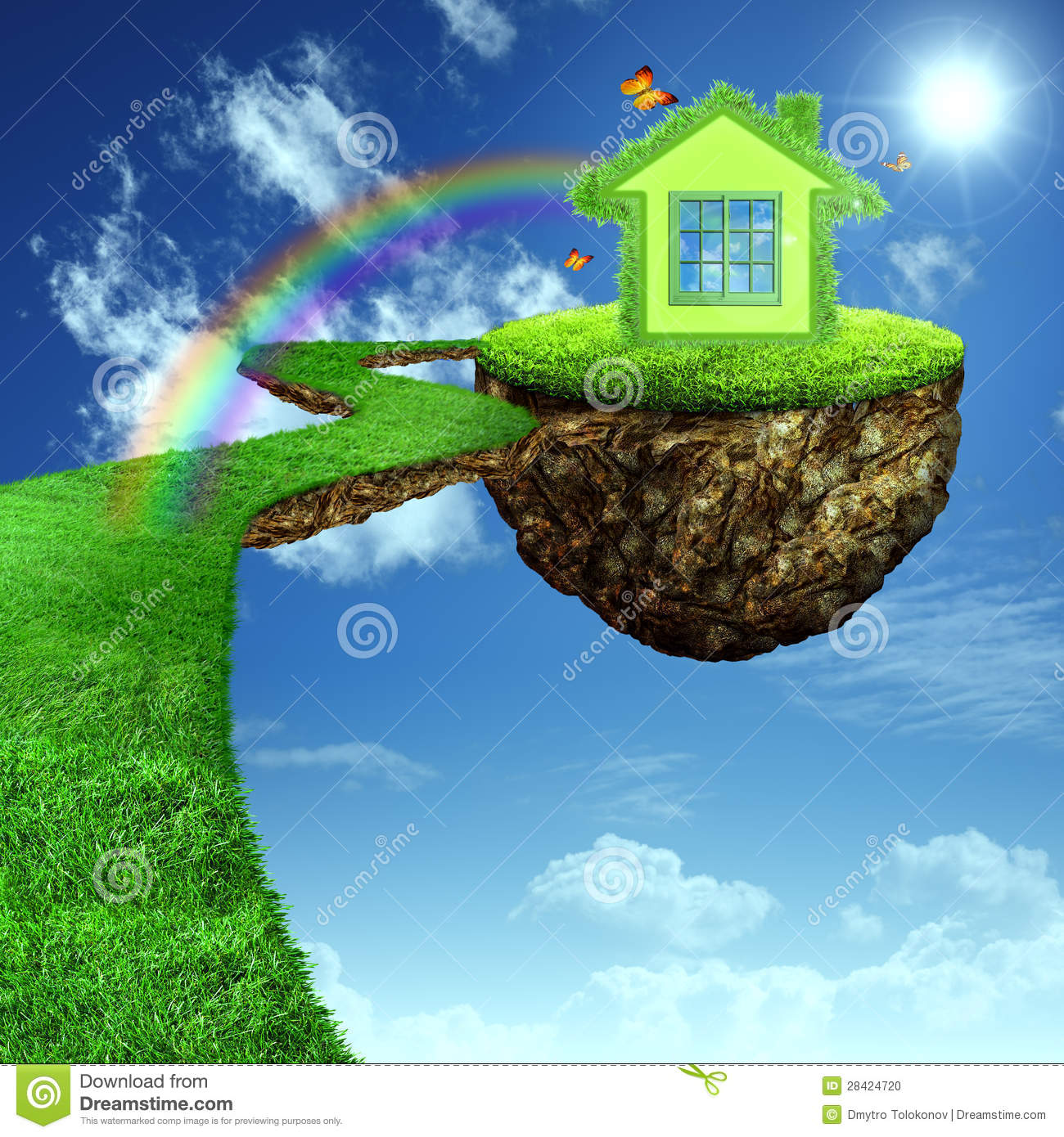 Funny Green House. Stock Photo. Image Of Atmosphere